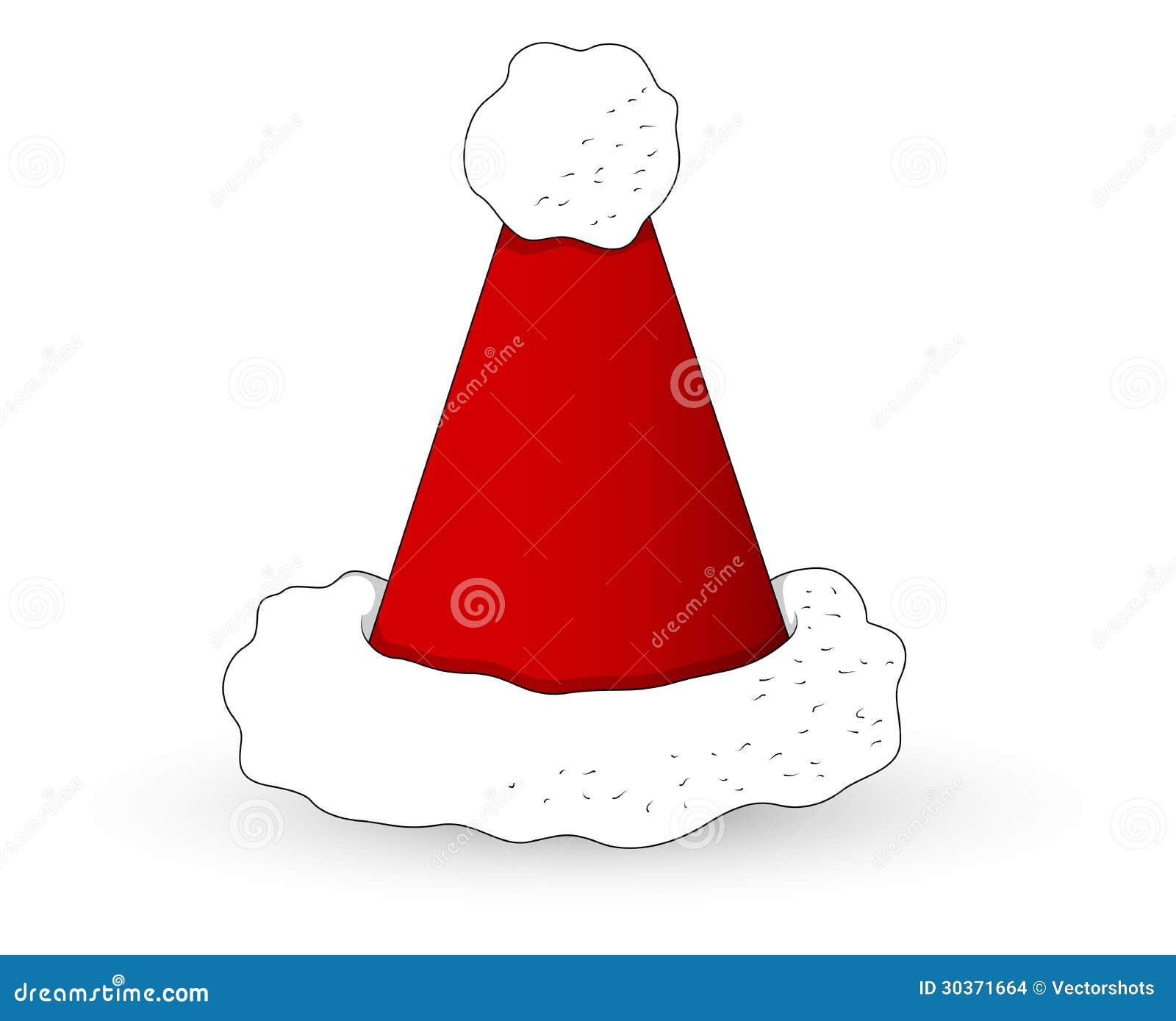 Cartoon Santa Hat Christmas Vector Illustration Stock