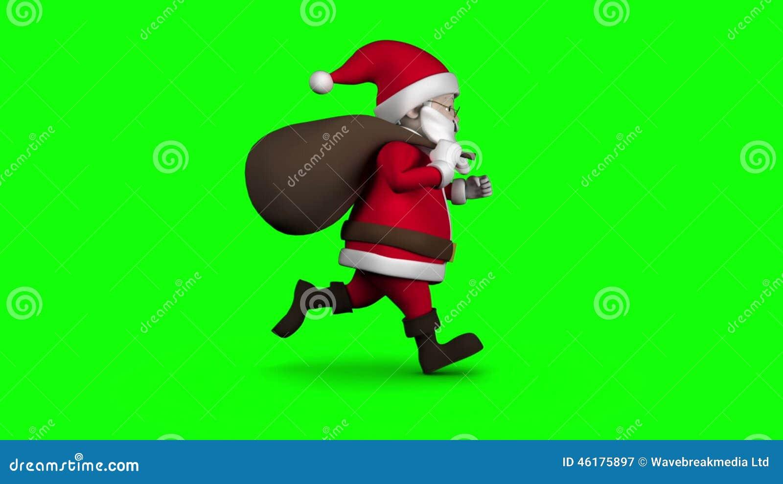 Santa claus magically building a modern city green screen stock cartoon santa running on green background stock video footage kristyandbryce Choice Image