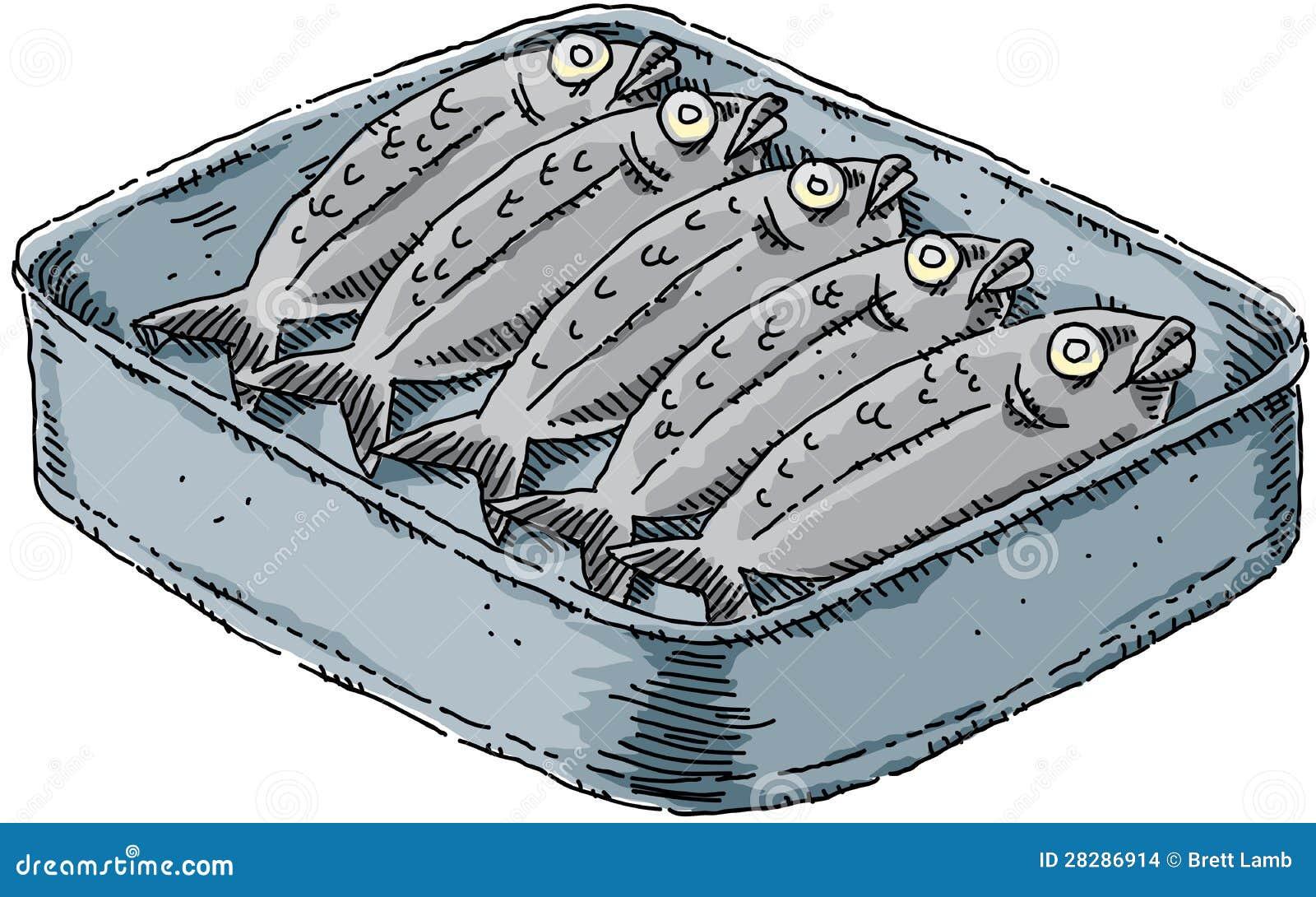 Cartoon Sardines Stock Images - Image: 28286914