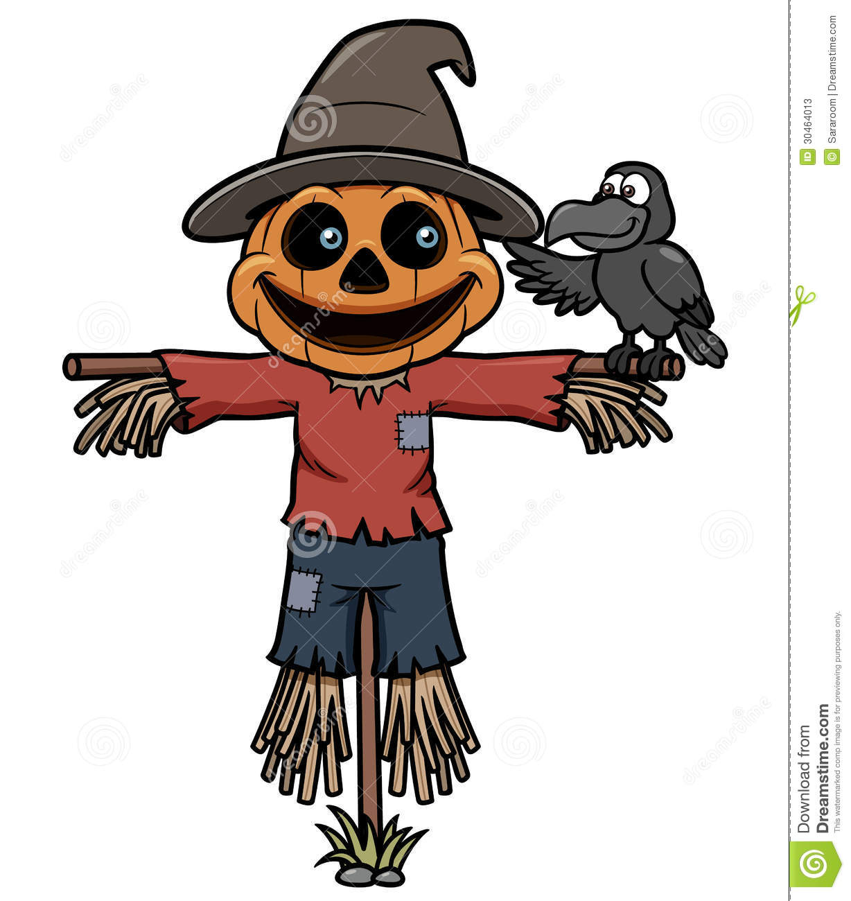 Cartoon Scarecrow Stock Photos Image 30464013