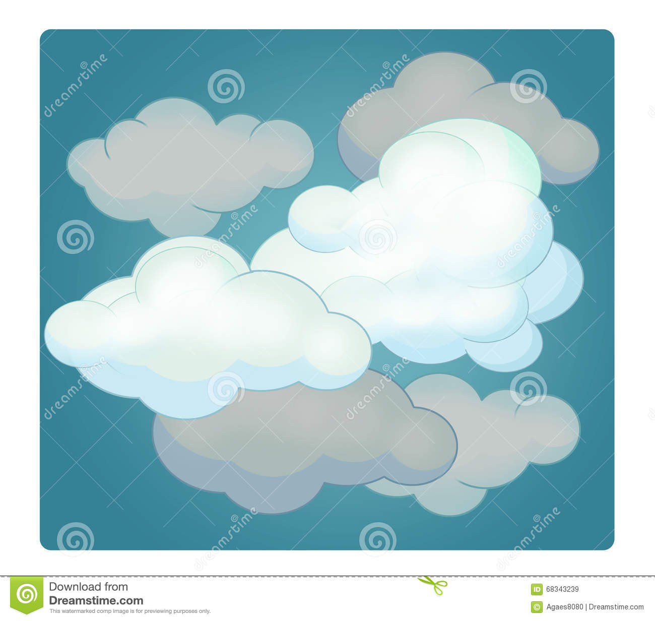 cartoon scene with weather cloudy stock illustration cloud clip art black and white cloud clip art outline