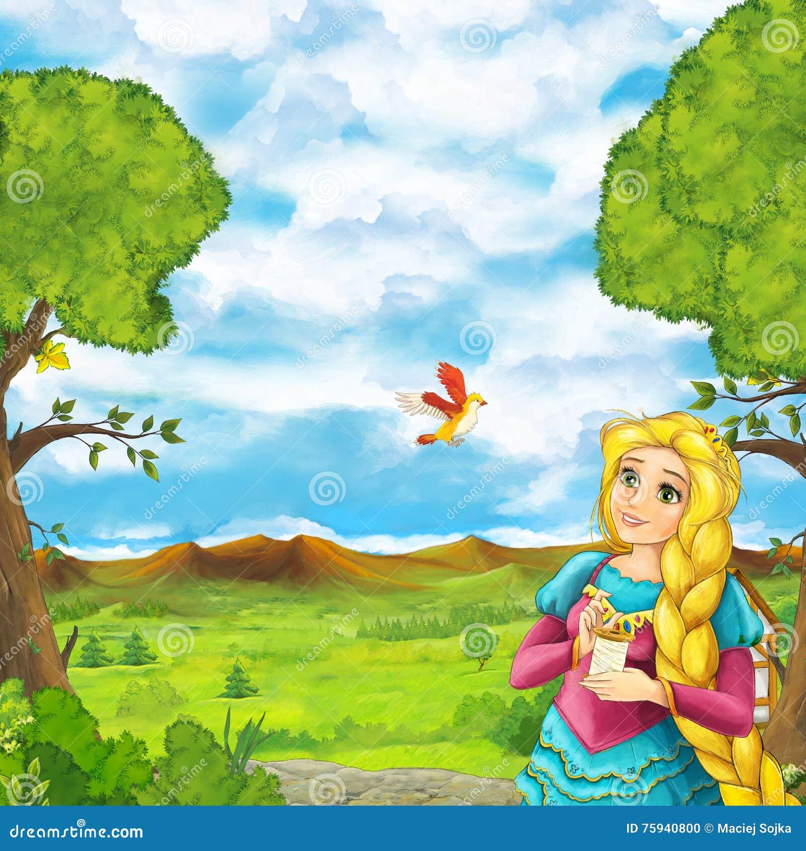 Beautiful garden cartoon - Beautiful Cartoon Children Colortrful Garden
