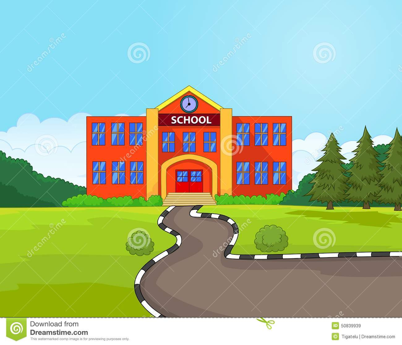 cartoon school building stock vector illustration of cartoon school building drawing cartoon school building black and white