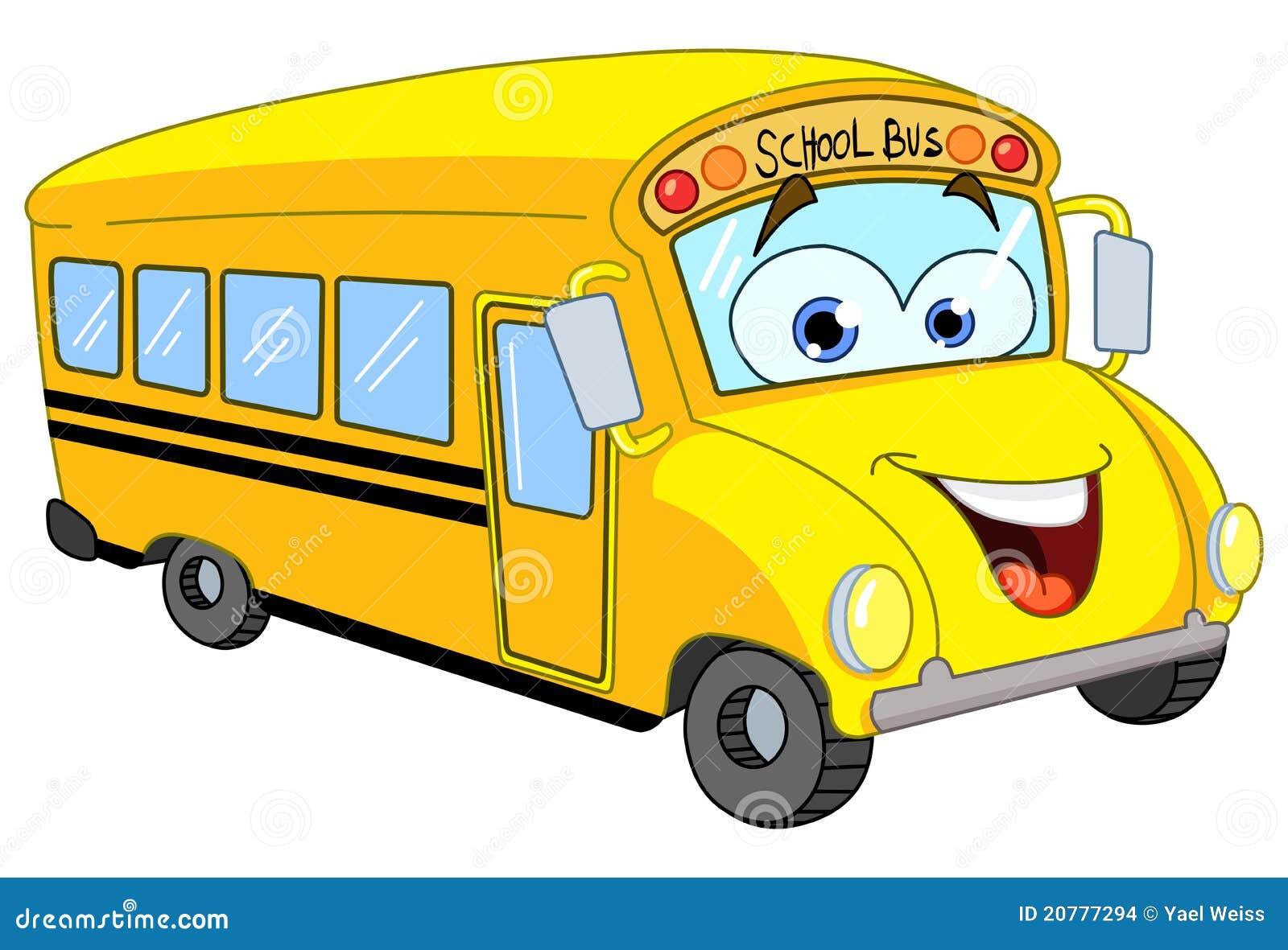 Cartoon School Bus Stock Images Image 20777294