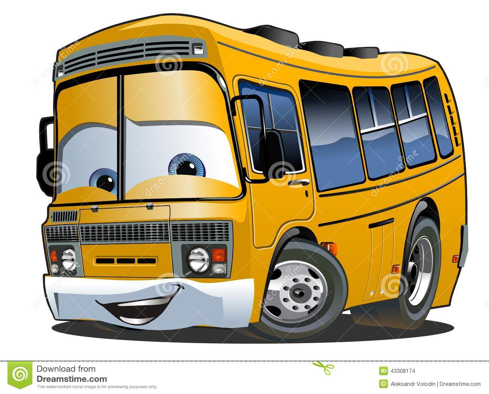 Download Cartoon School Bus stock vector. Illustration of design - 43308174