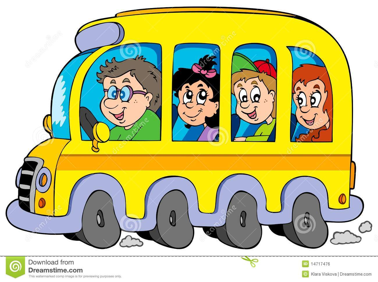 Pin Cartoon School Bus Pictures On Pinterest