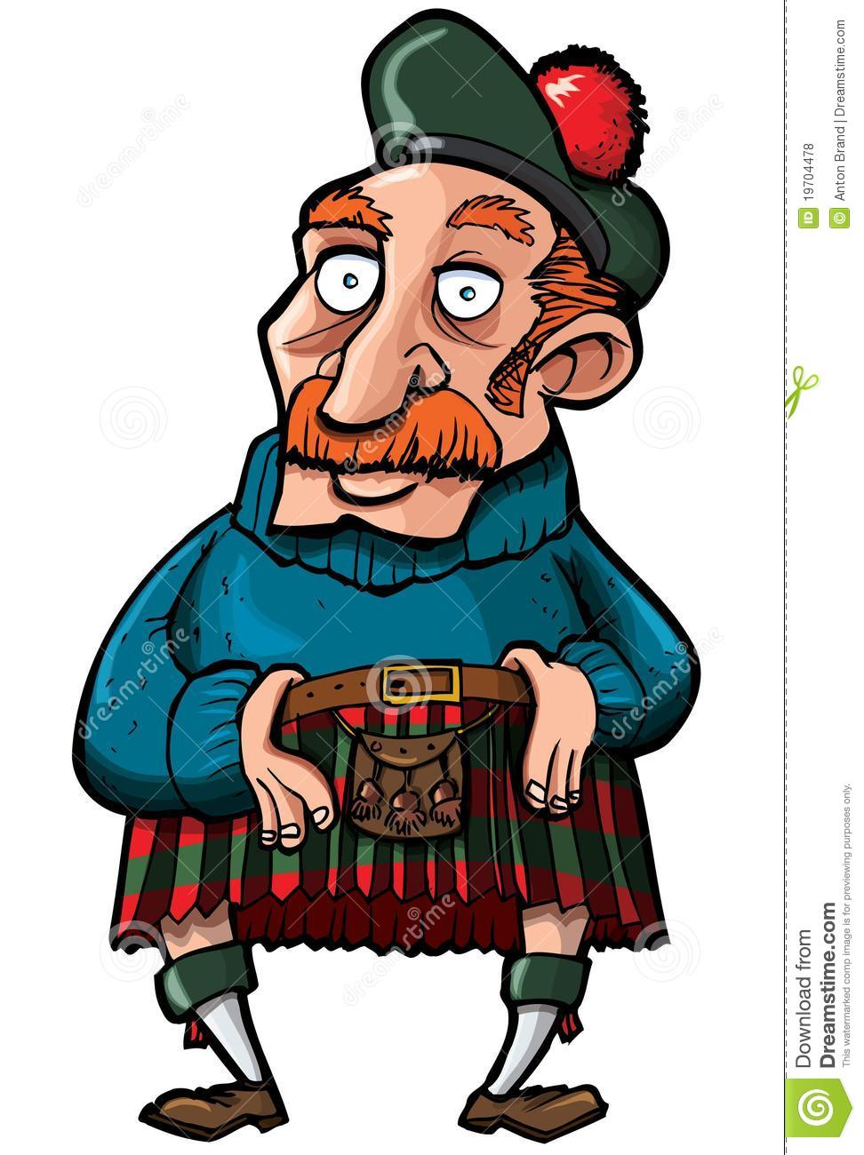 Cartoon Scotsman With A Kilt And Sporran Stock Vector - Illustration of  plaid, fashion: 19704478