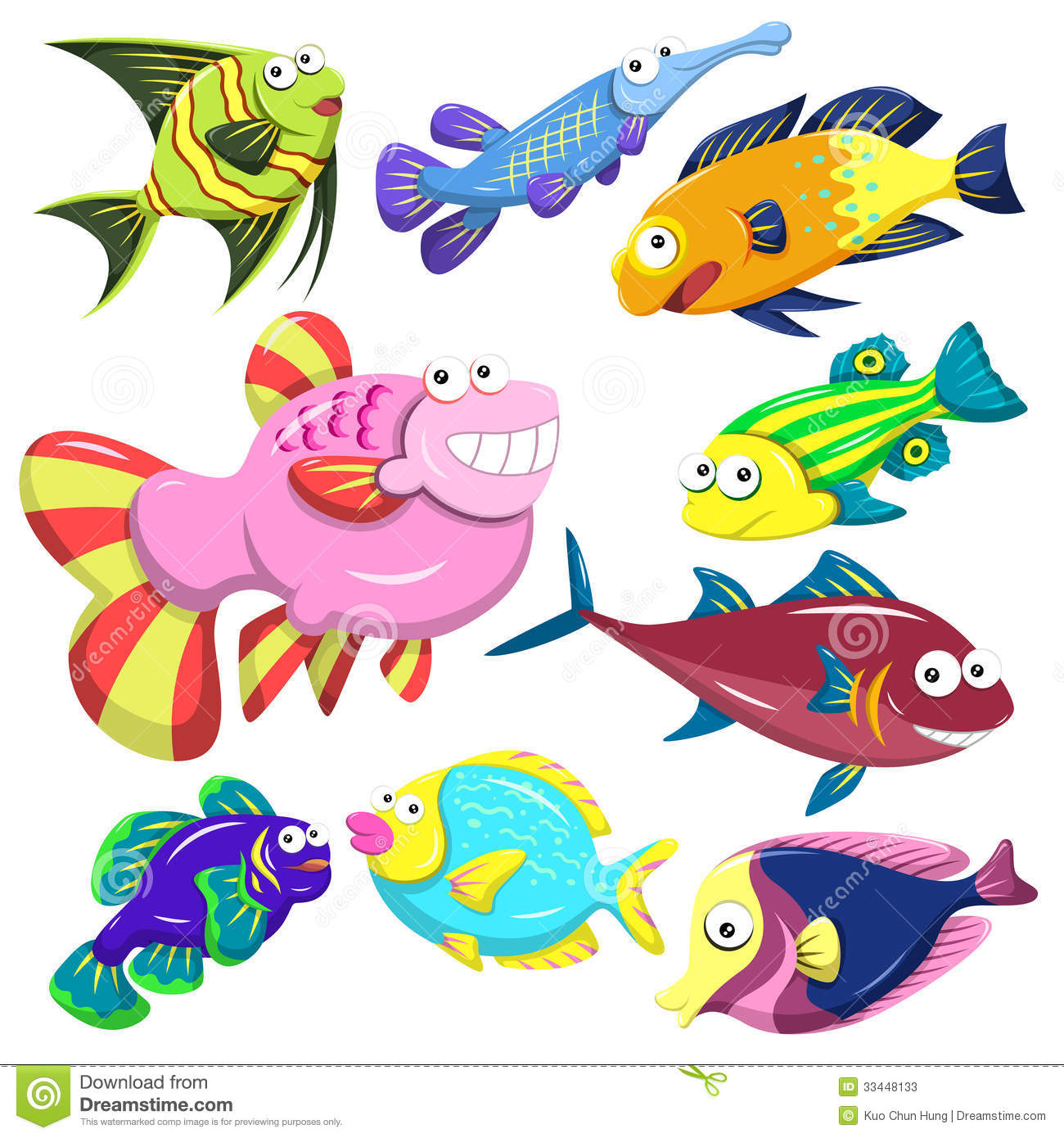 Stock Photos Cartoon Sea Animal Illusration Collection Animals White Background Image33448133 on Name Tag Template With Animals 9