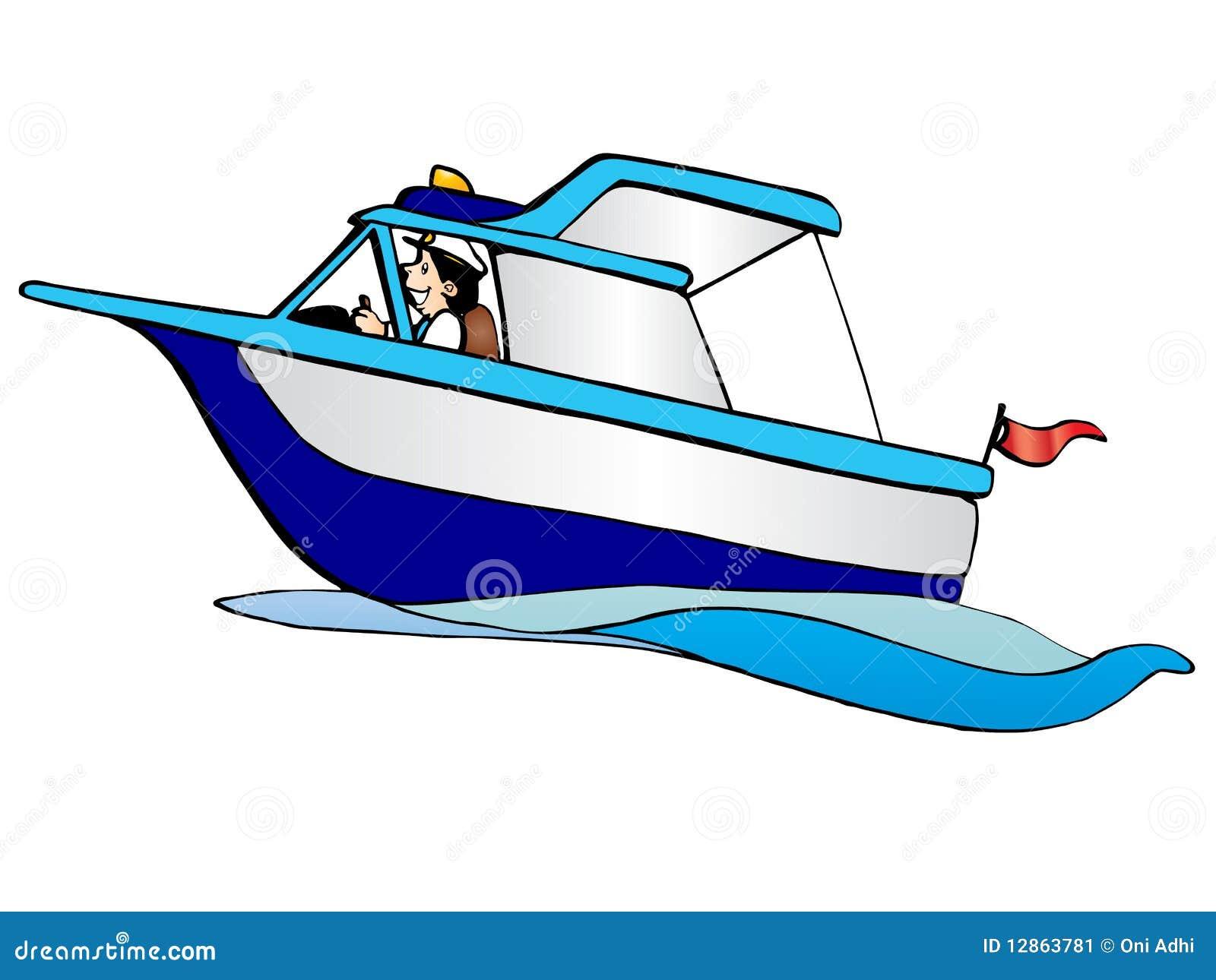 Cartoon Sea Boat Stock Image - Image: 12863781