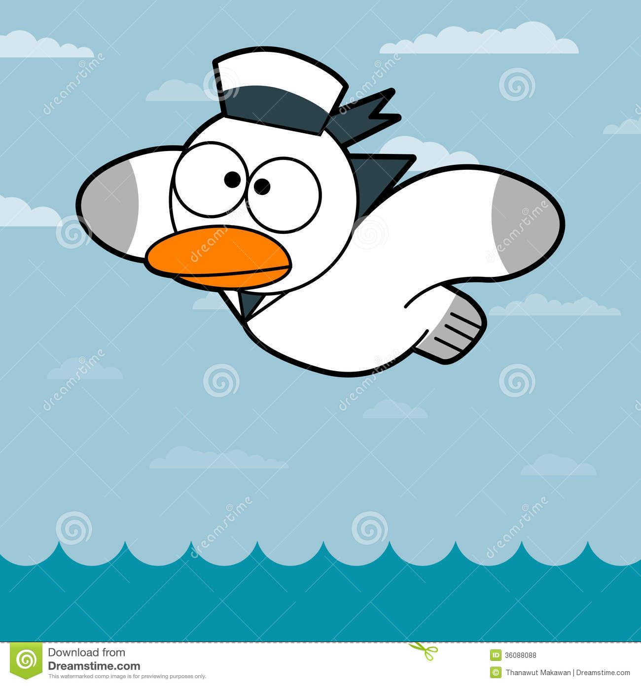 Cartoon Seagull cartoon seagull royalty free stock photos - image ...
