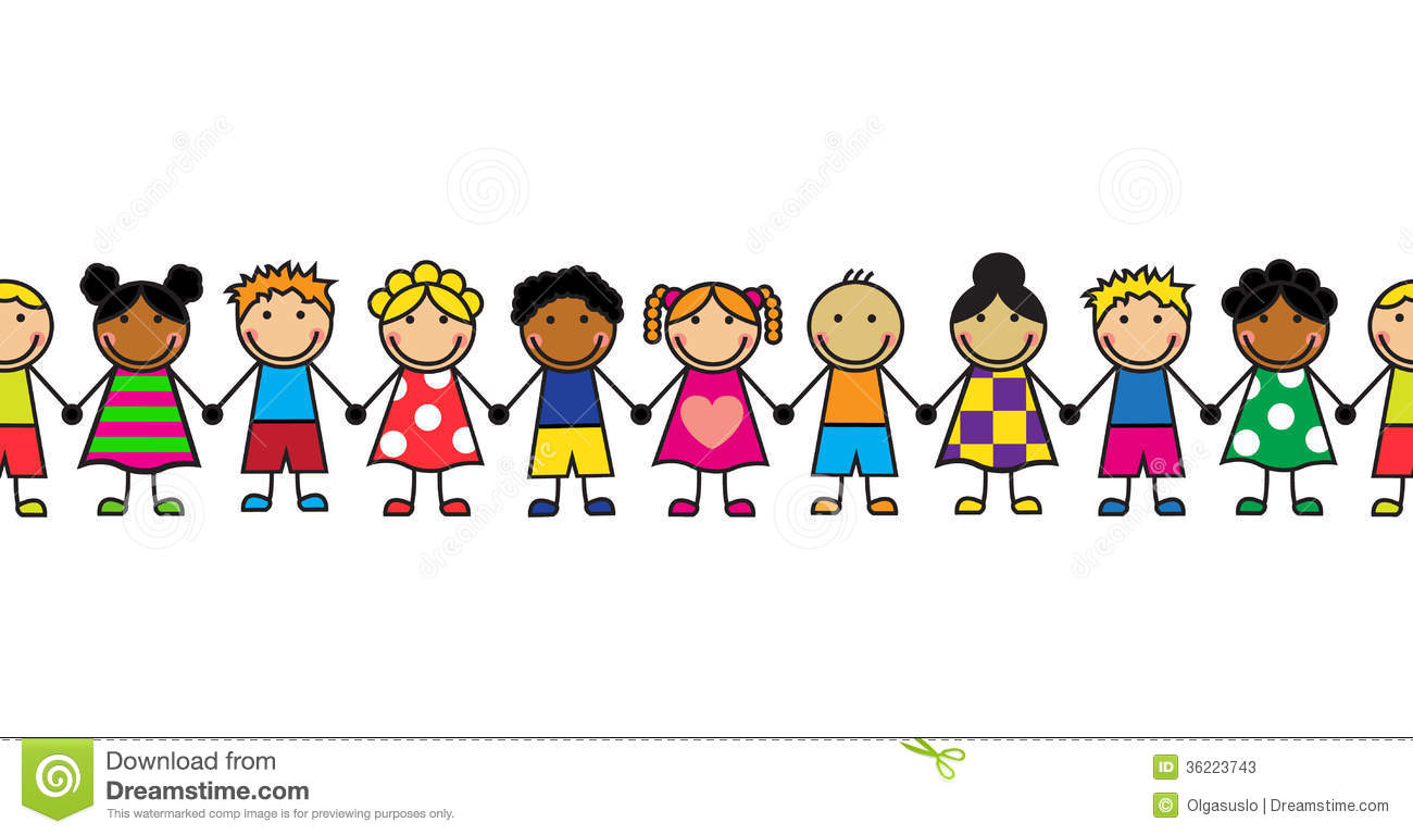 royalty free stock photo download cartoon seamless series of children