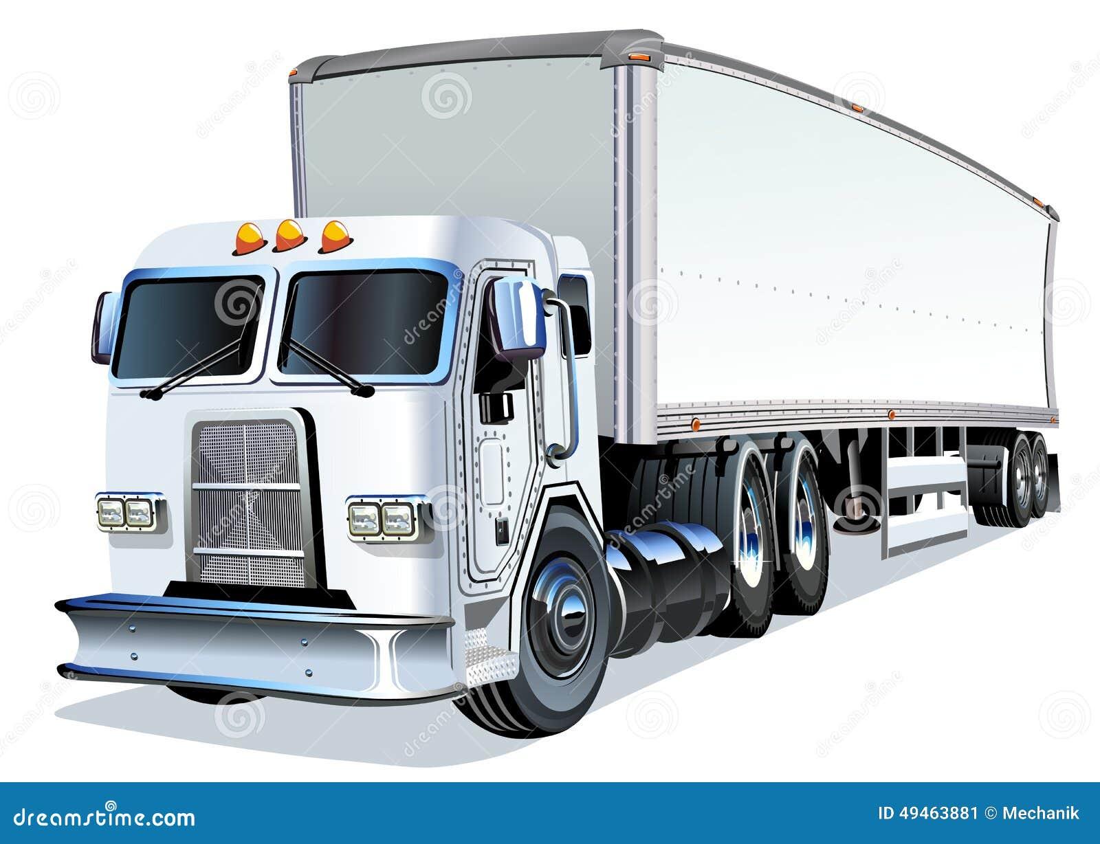 Semi Truck Seats >> Cartoon Semi Truck stock vector. Image of delivery, loading - 49463881