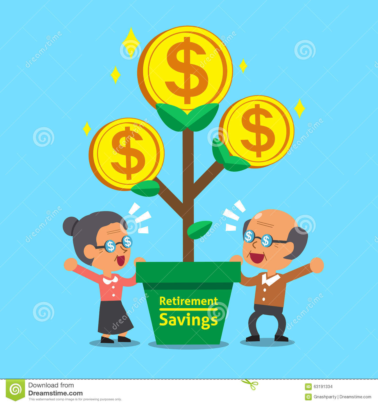 cartoon senior people with retirement savings money tree dollar sign vector png dollar sign vector png