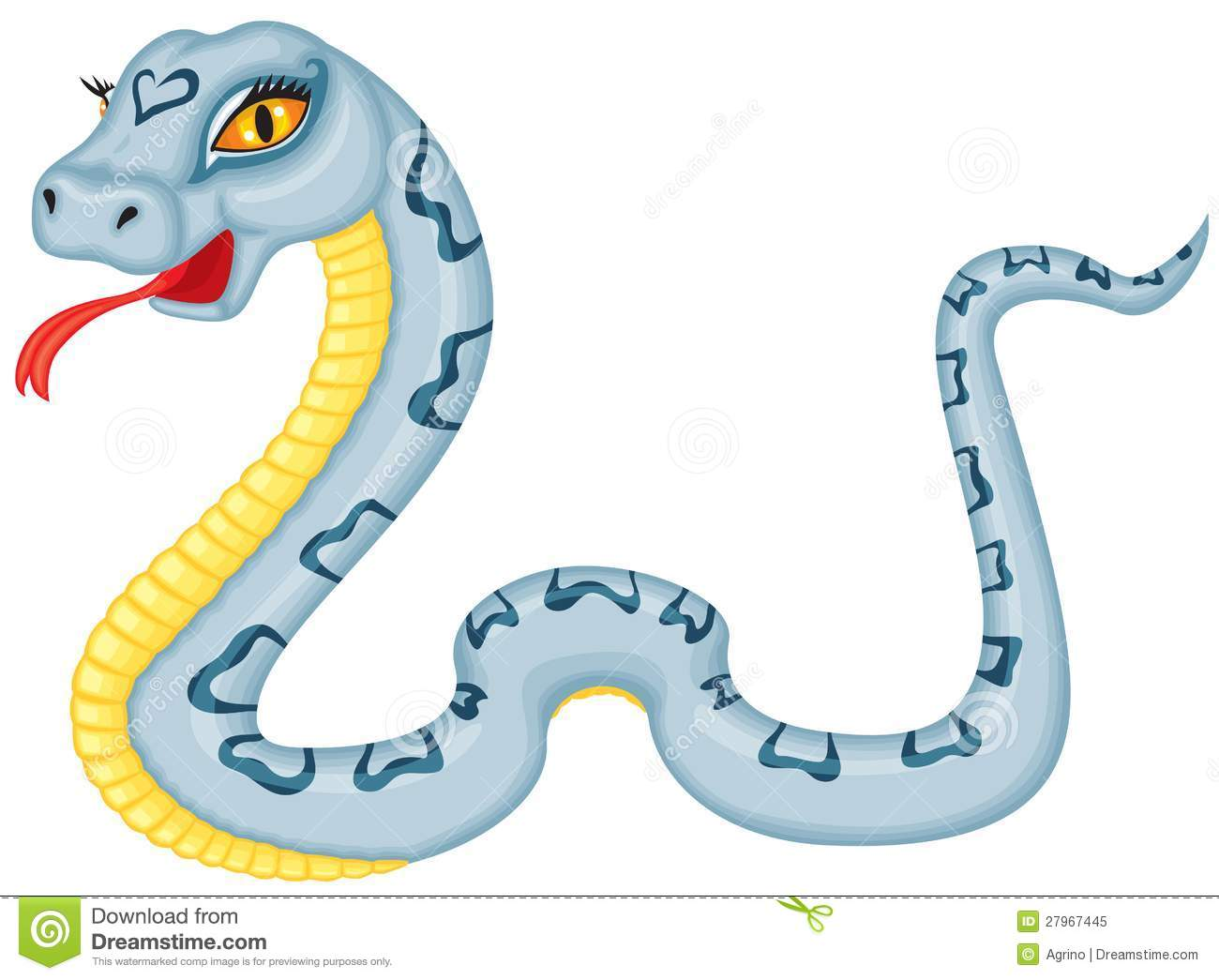 cartoon serpent royalty free stock photo image 27967445