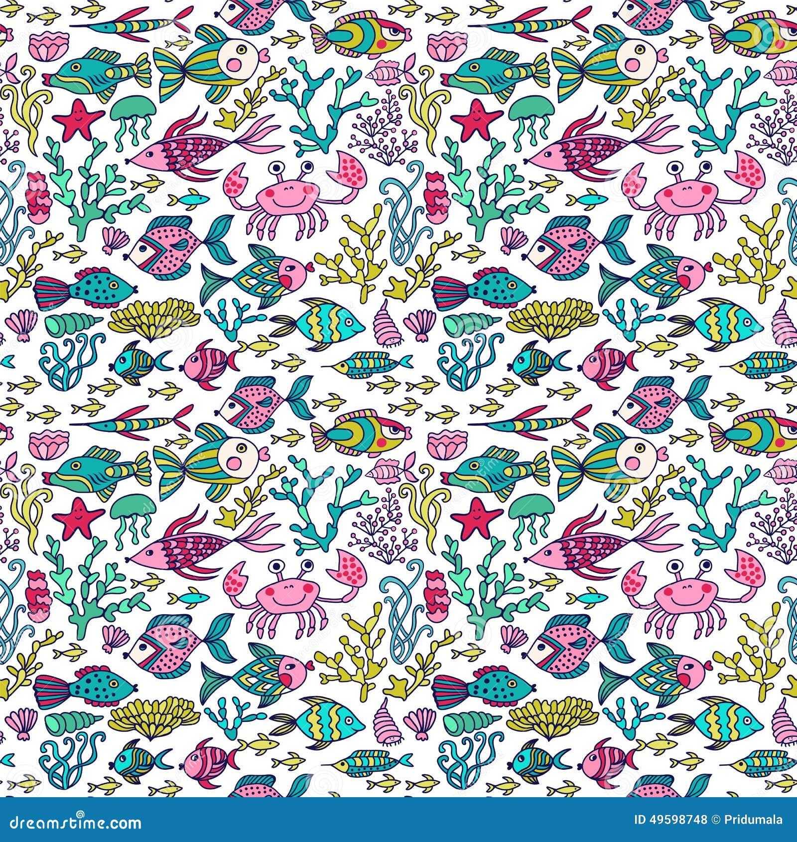 ocean fish wallpaper pattern - photo #17