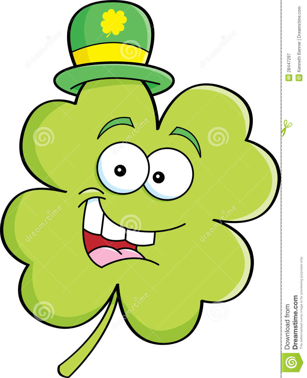 Cartoon shamrock stock vector. Illustration of irish ...