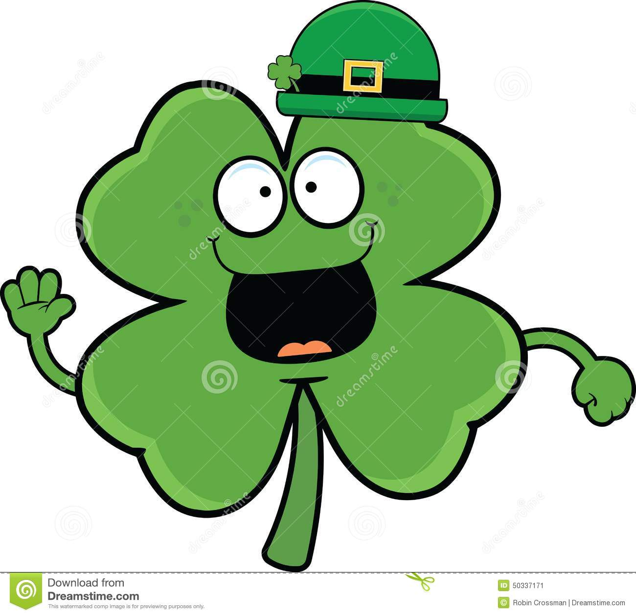 Cartoon Shamrock Graphic Stock Vector - Image: 65037317