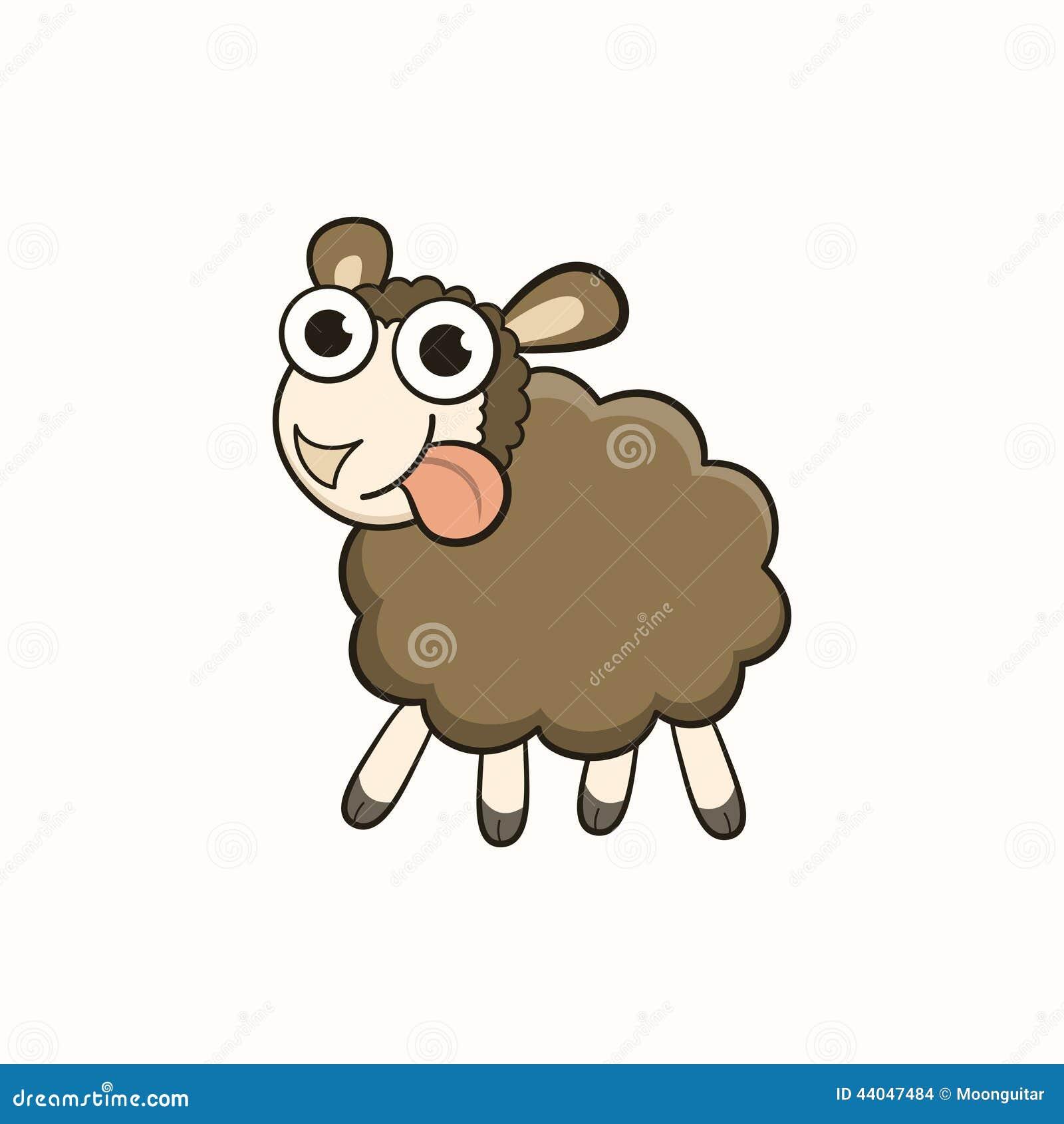 ... Sheep, Character For Christmas And New Stock Vector - Image: 44047484