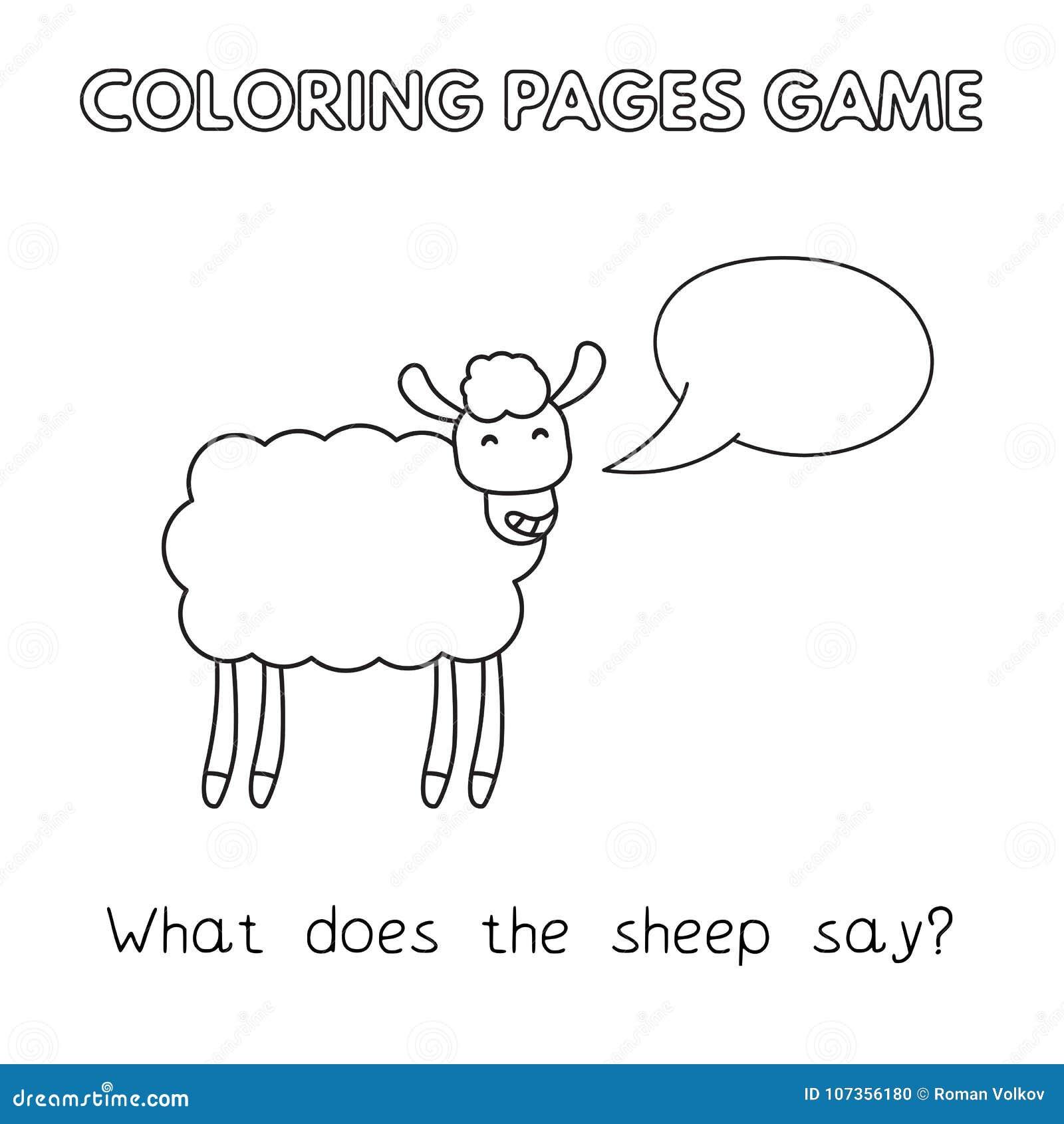 Cartoon Sheep Coloring Book Stock Vector Illustration Of Character