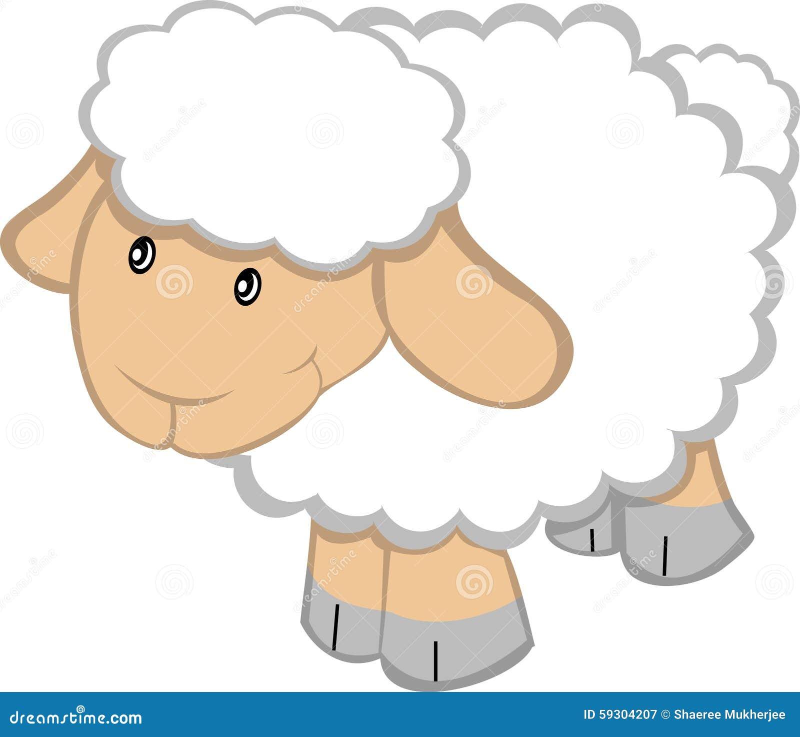 Cartoon Sheep Stock Vector. Illustration Of Illustration