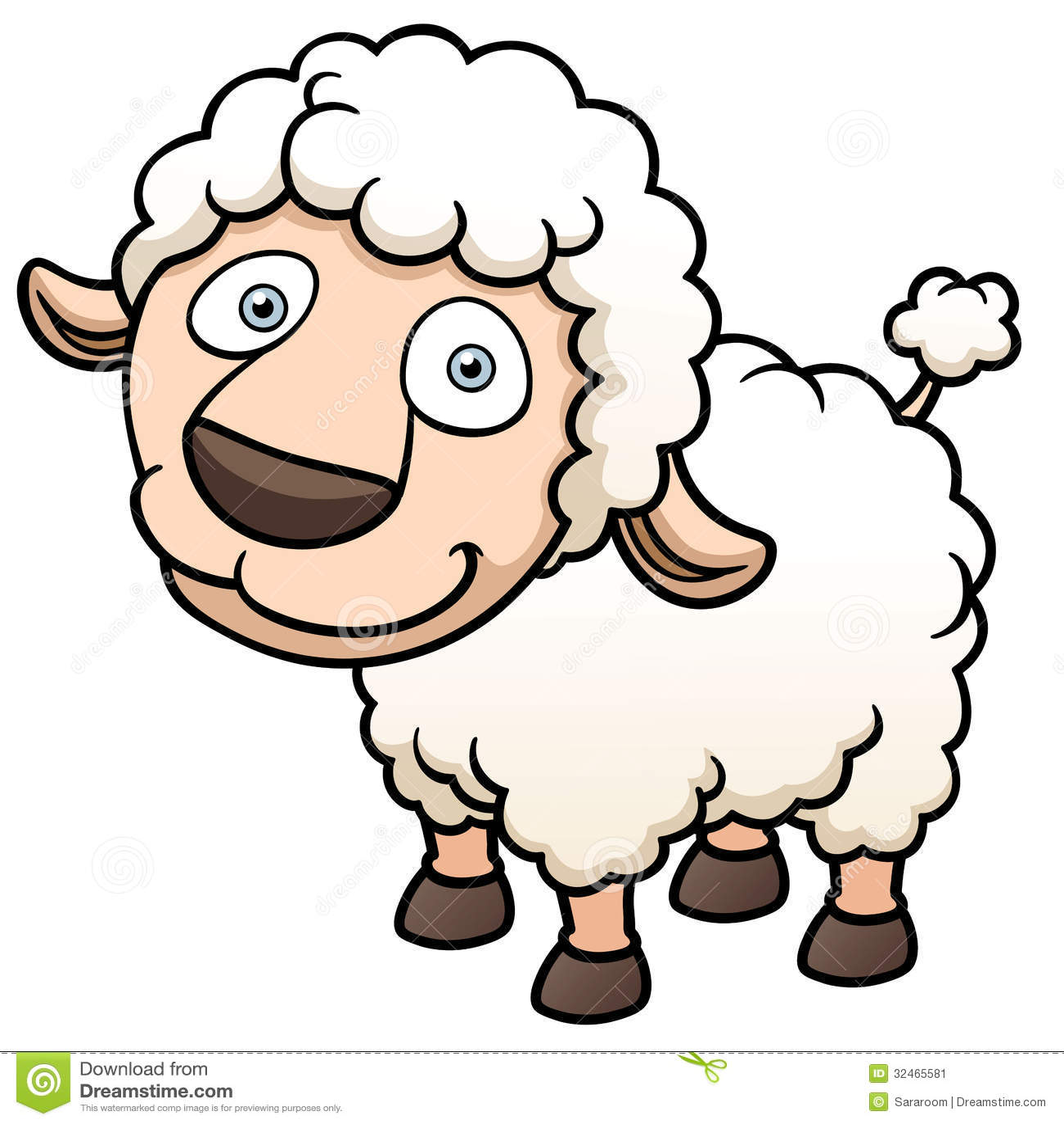 Cartoon Sheep Stock Vector Illustration Of Isolated