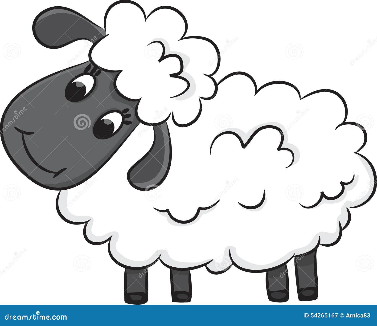Cartoon Sheep Stock Vector Image 54265167