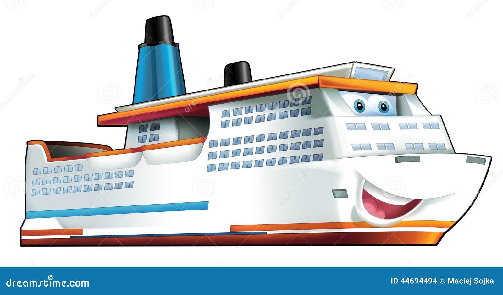 Cartoon Ship Stock Illustration Image 44694494