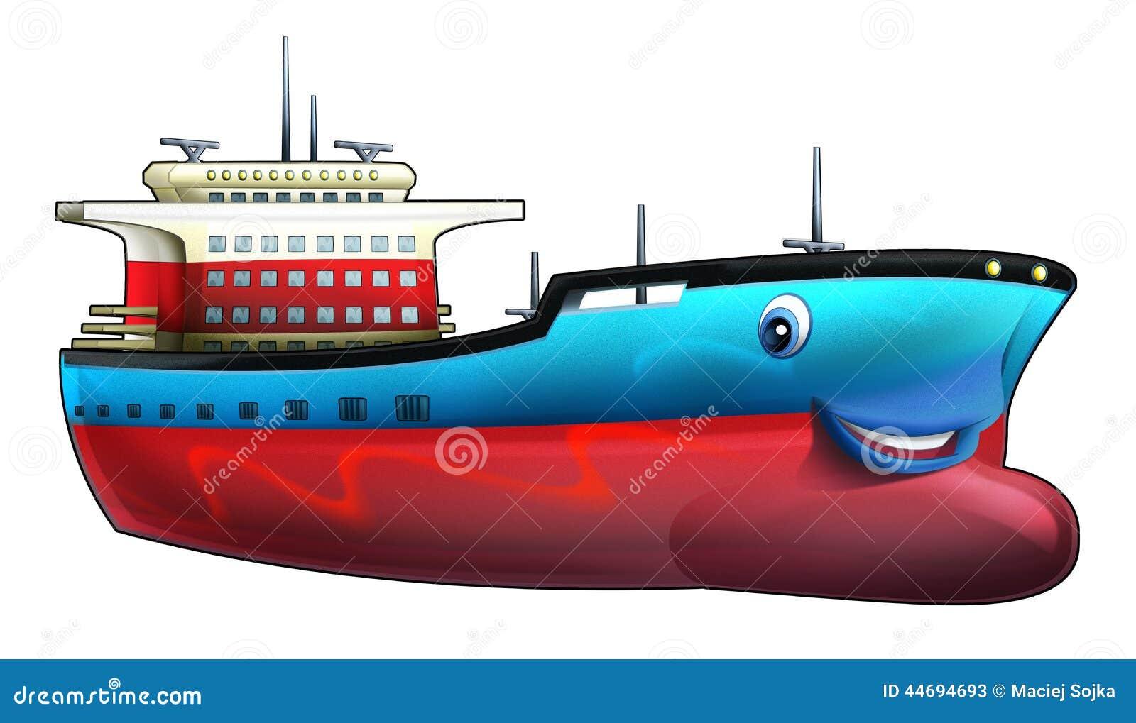 Cartoon Ship Stock Illustration Image 44694693