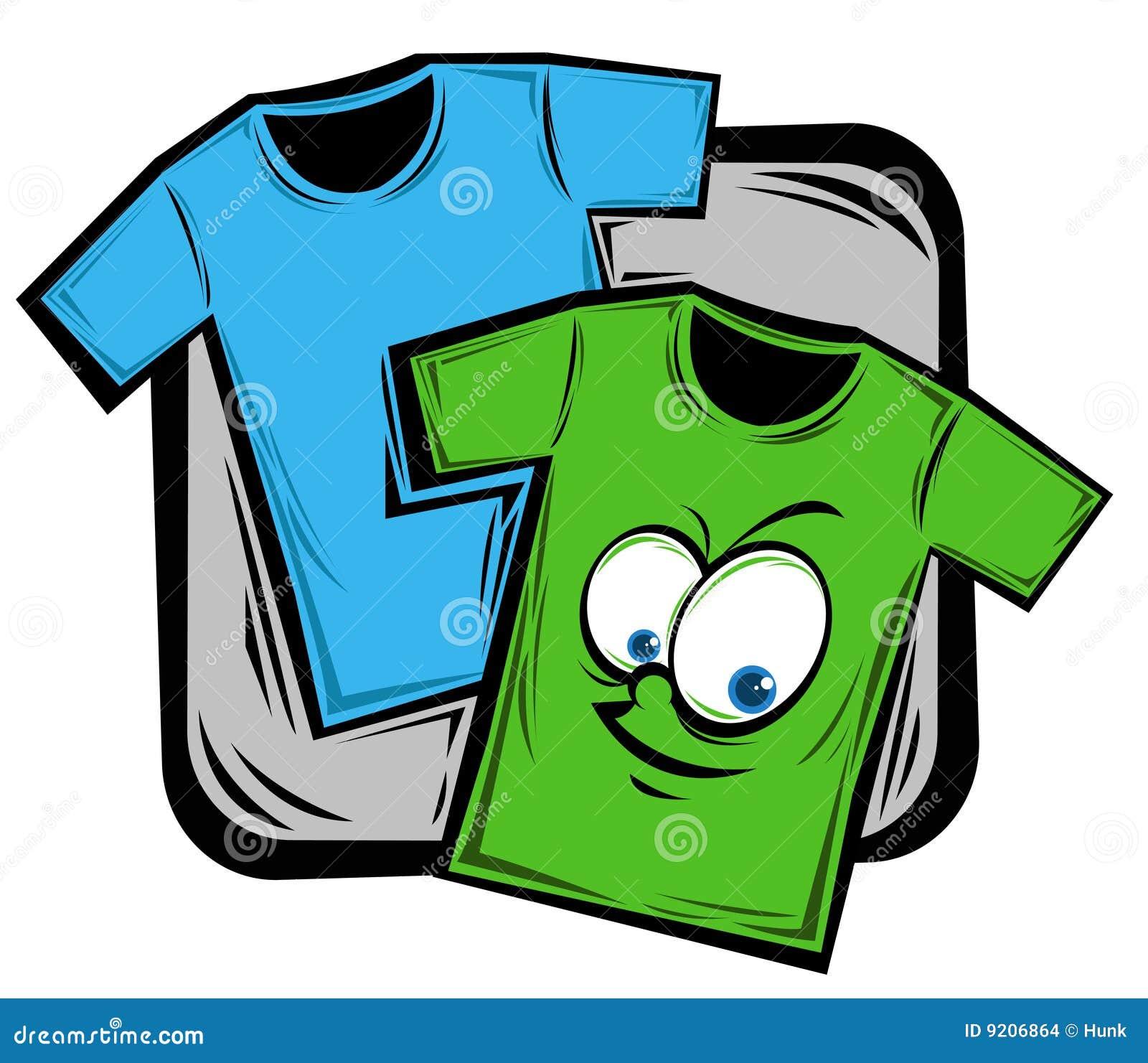 Illustration of cartoon shirt on the background,vector illustration.