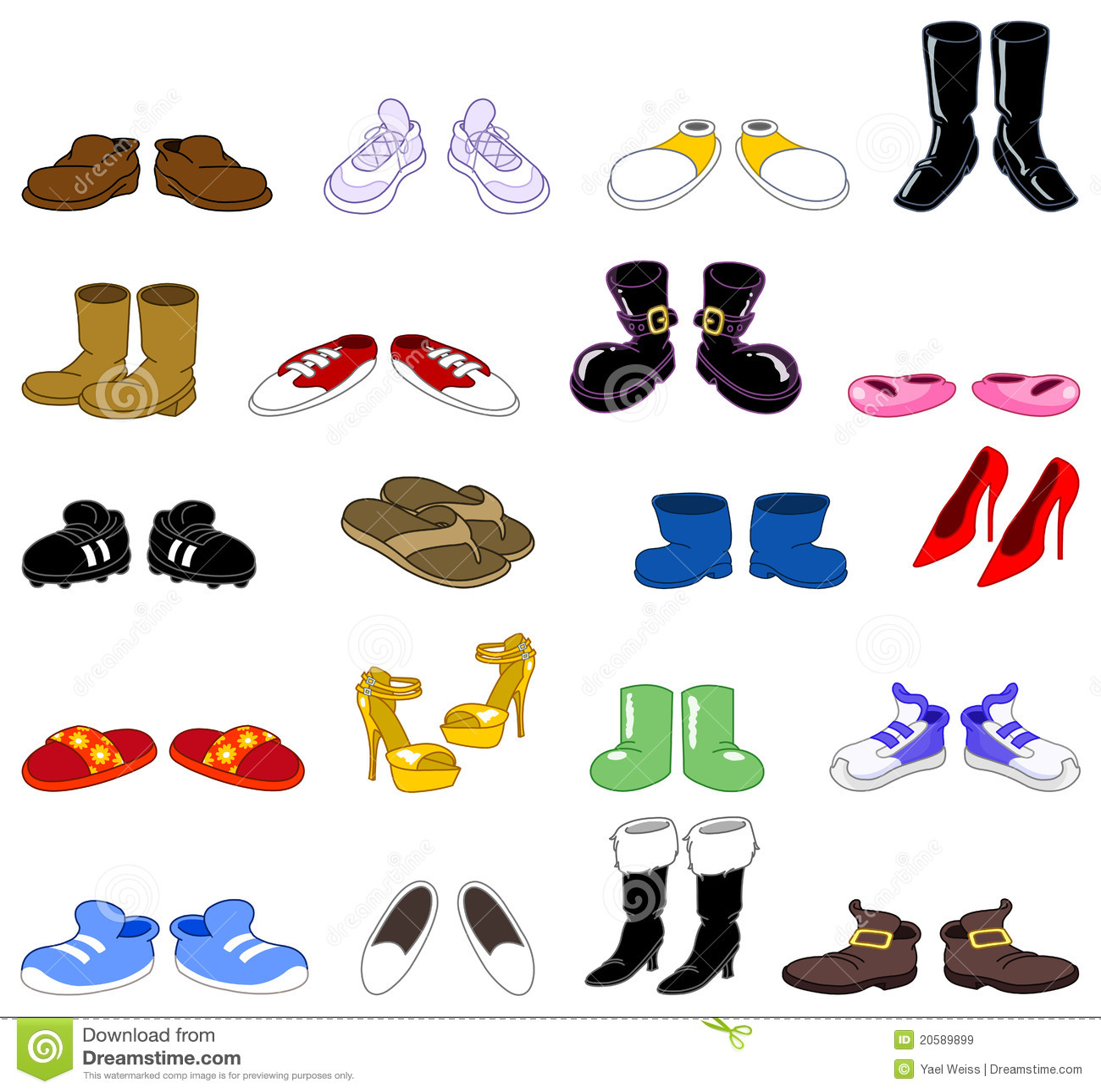S Cartoon Shoes Clipart