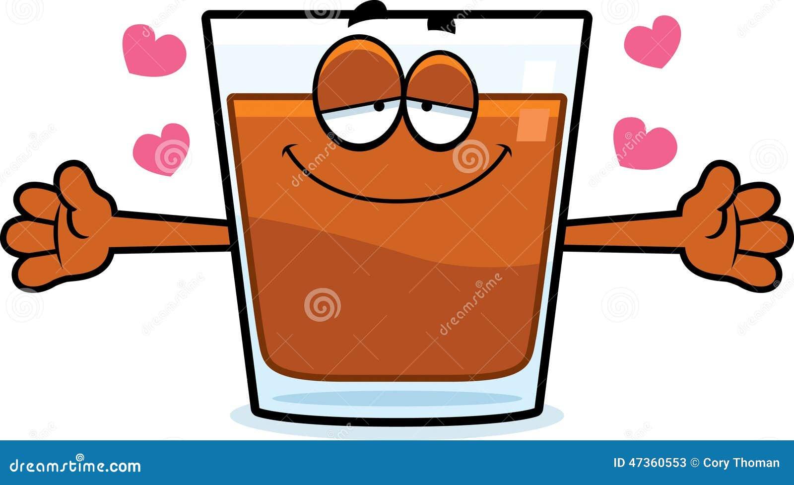 Cartoon Shot Glass Hug Stock Vector Image 47360553