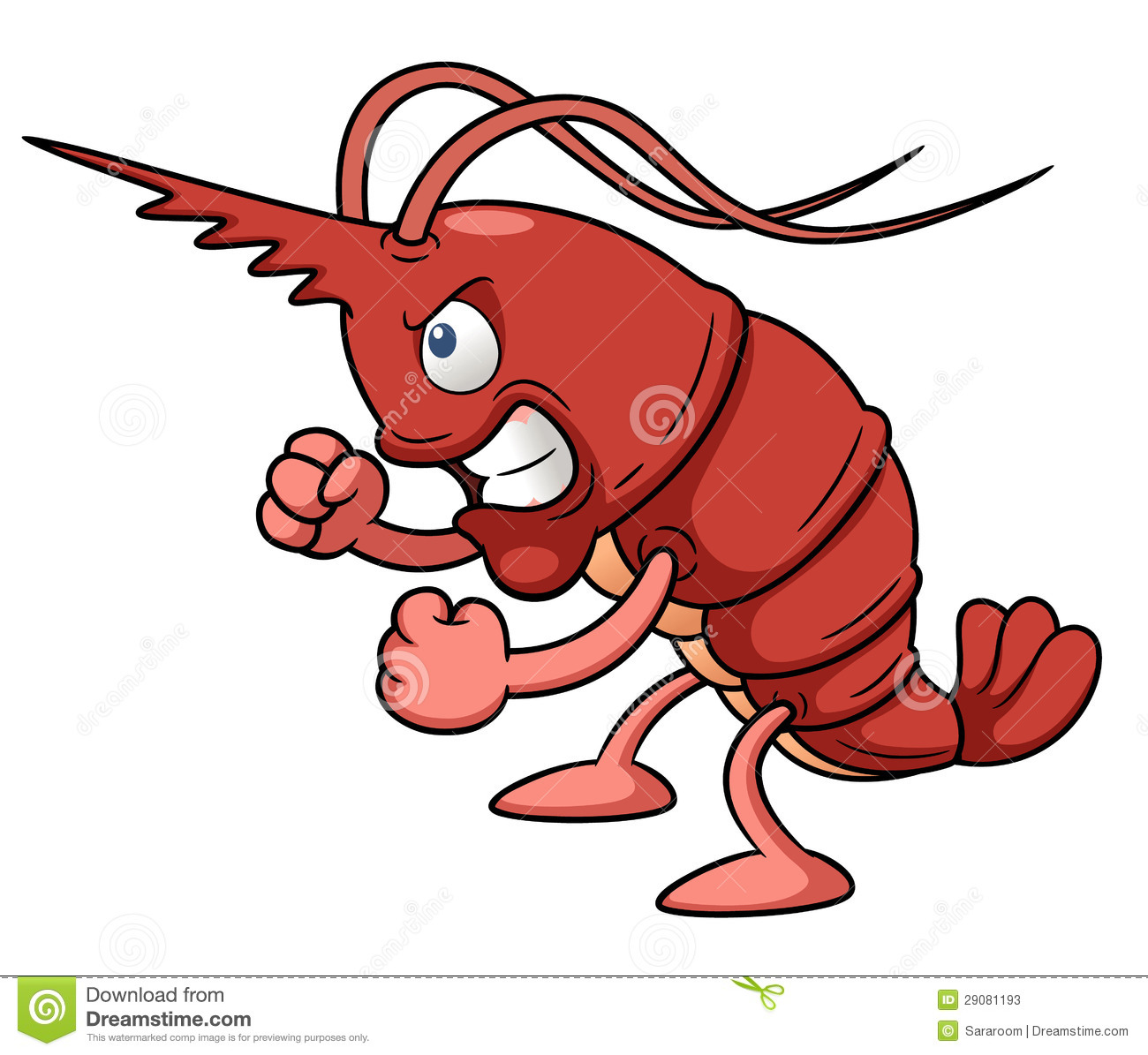 Cartoon shrimp stock vector. Illustration of macro, life - 29081193