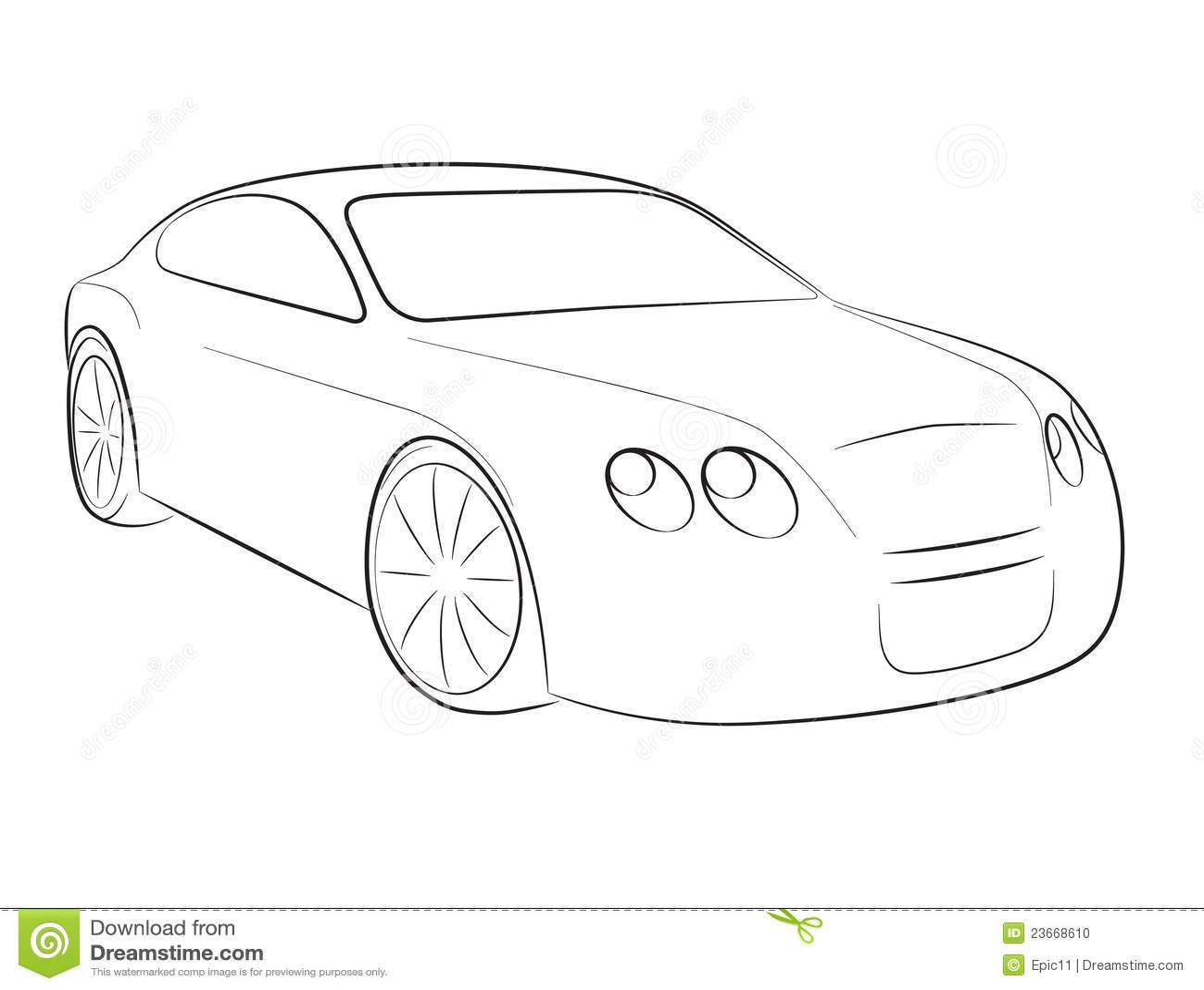 Cartoon Silhouette Of A Car Stock Vector