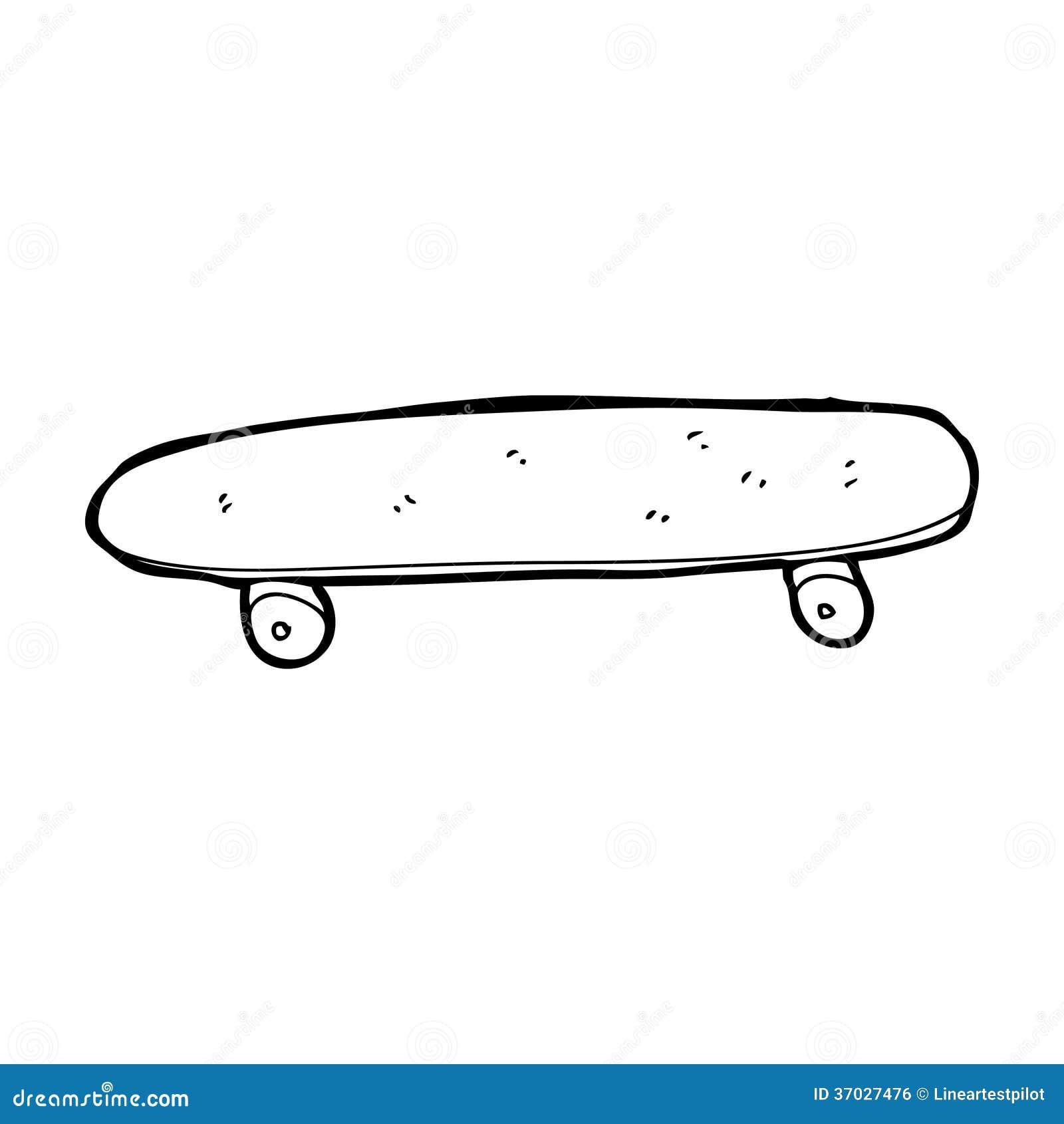Skateboard Clip Art Black And White Cartoon skateboard sto...