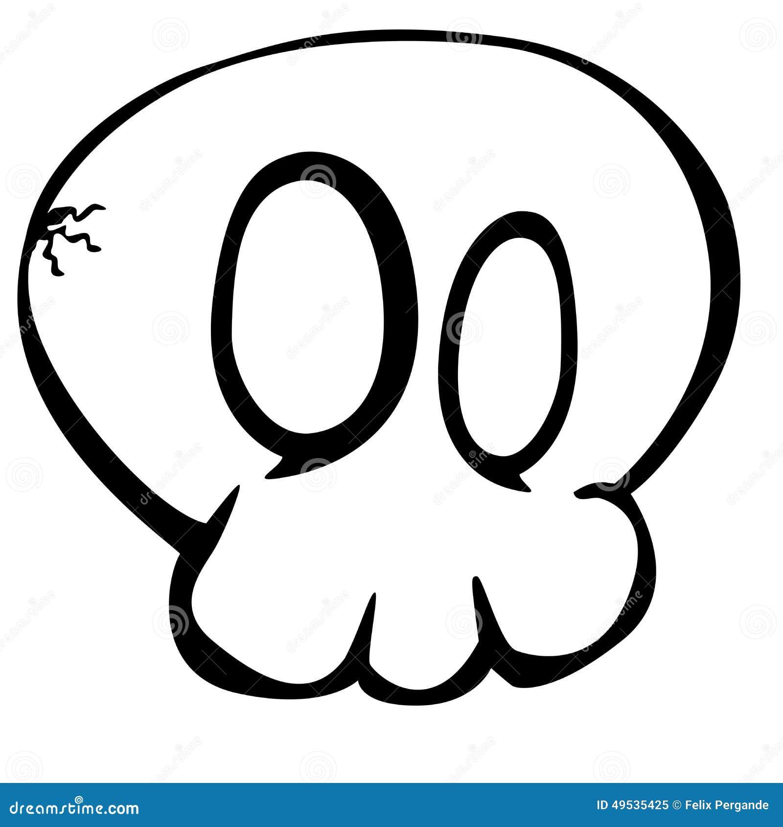 Cartoon skull stock illustration image of halloween for Illustration minimaliste