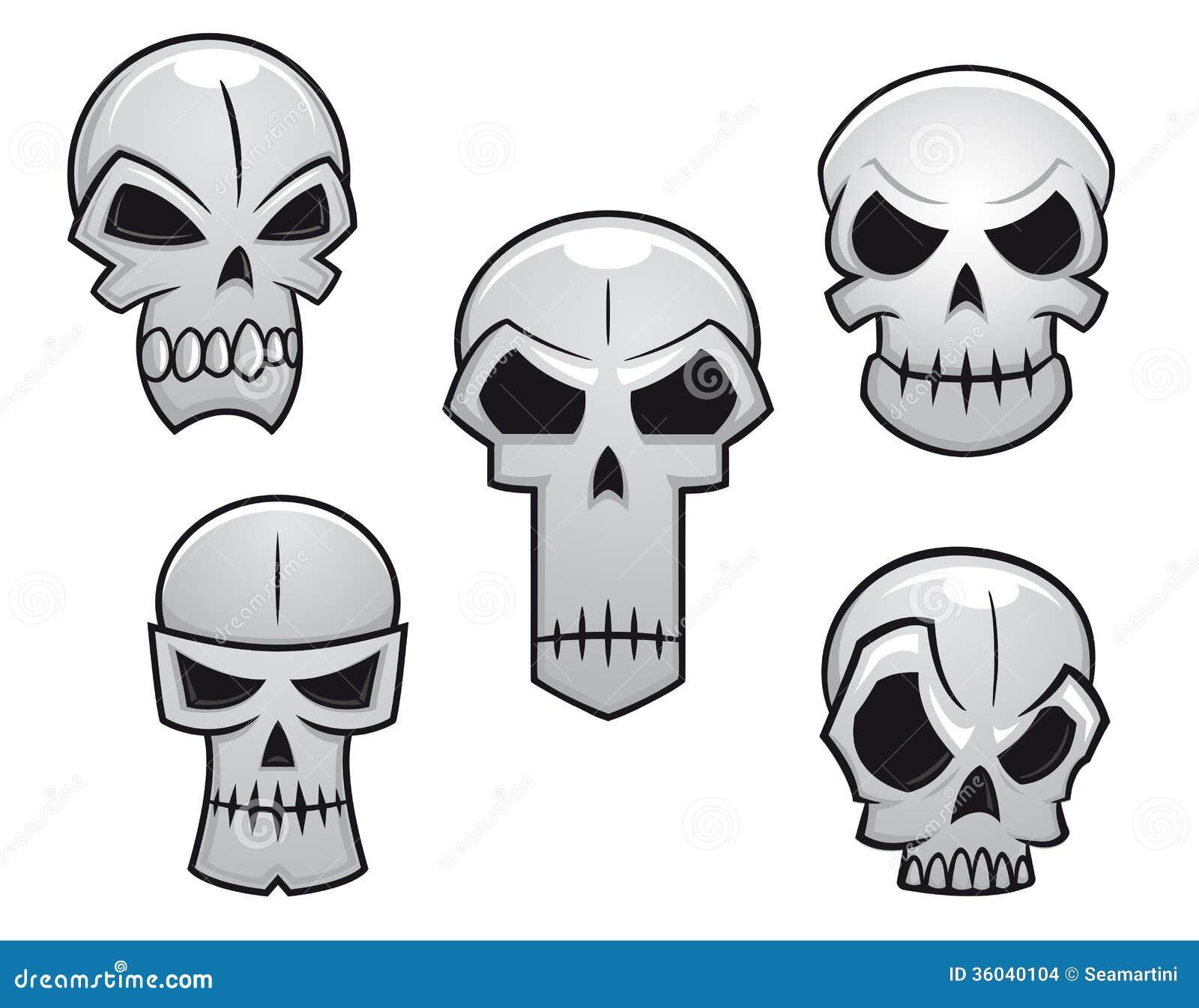 Cartoon Skulls Set With Danger Stock Images - Image: 36040104