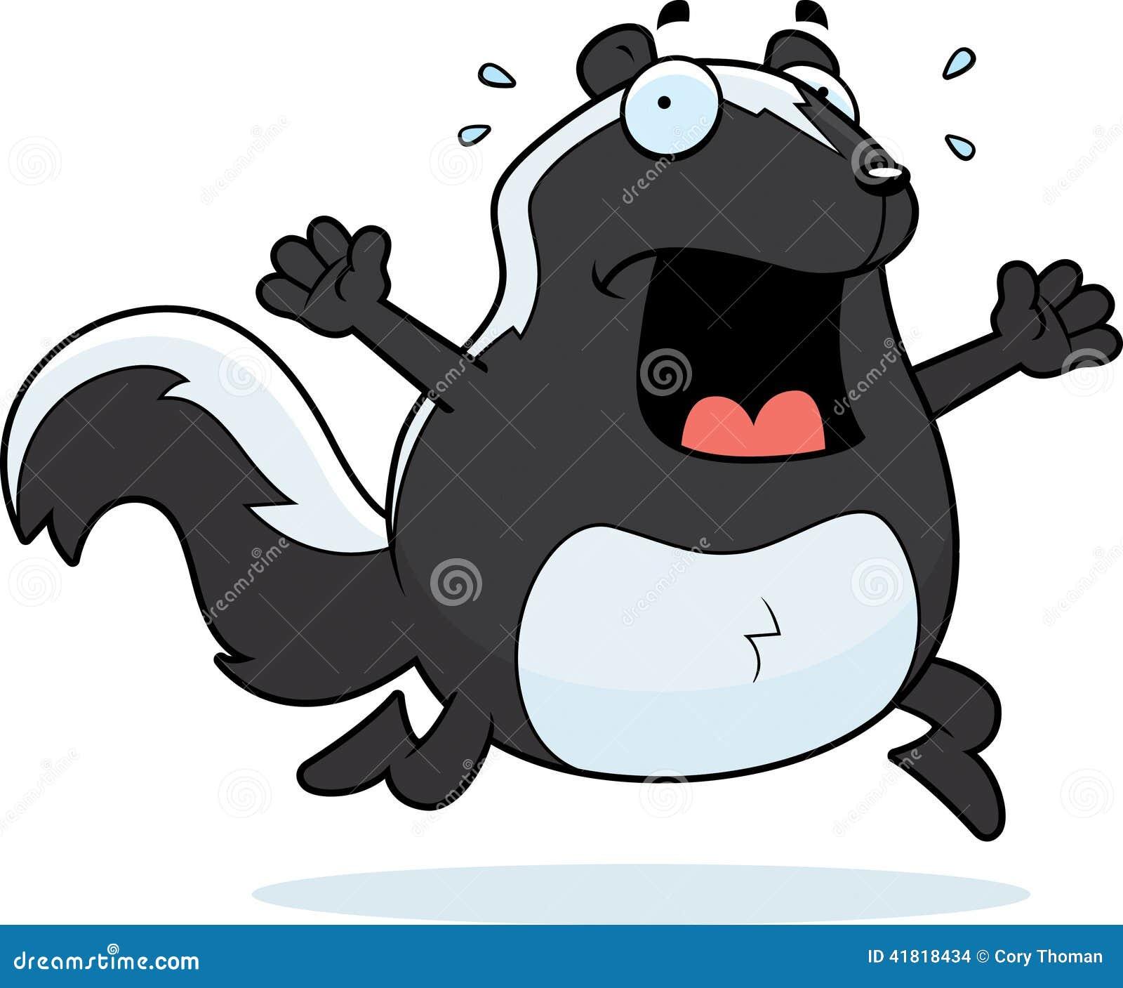 Cartoon Skunk Panic Stock Vector Image 41818434