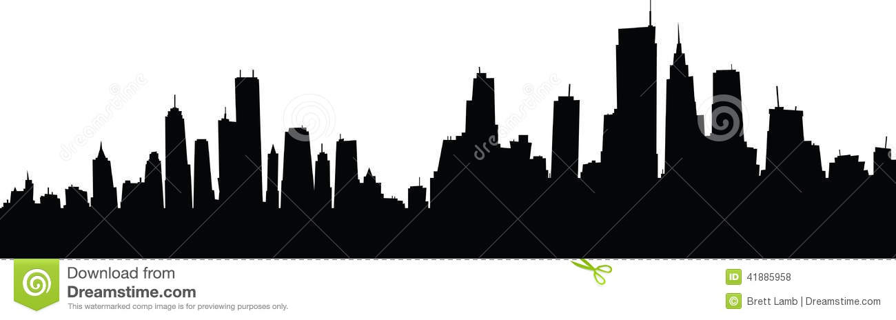 Cartoon Skyline Stock Illustration - Image: 41885958