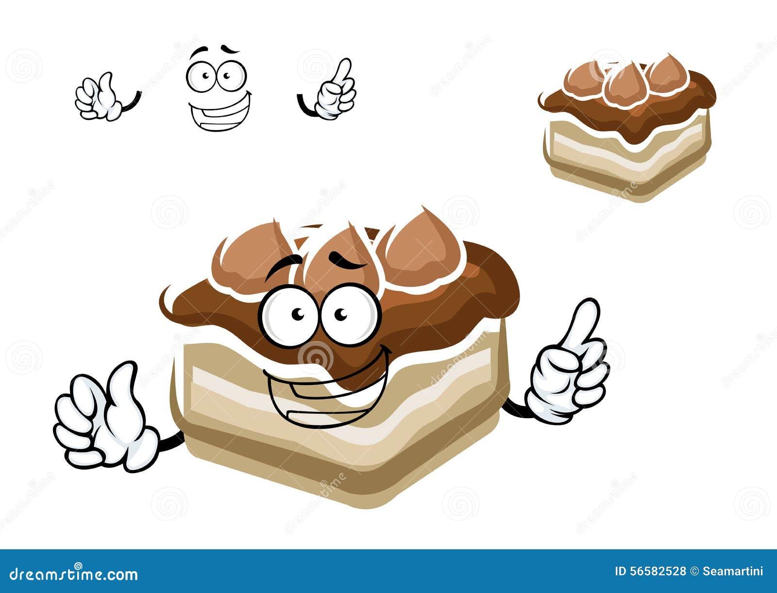 Cake Slice Cartoon Images : Cartoon Slice Of Chocolate Cake Stock Vector - Image: 56582528