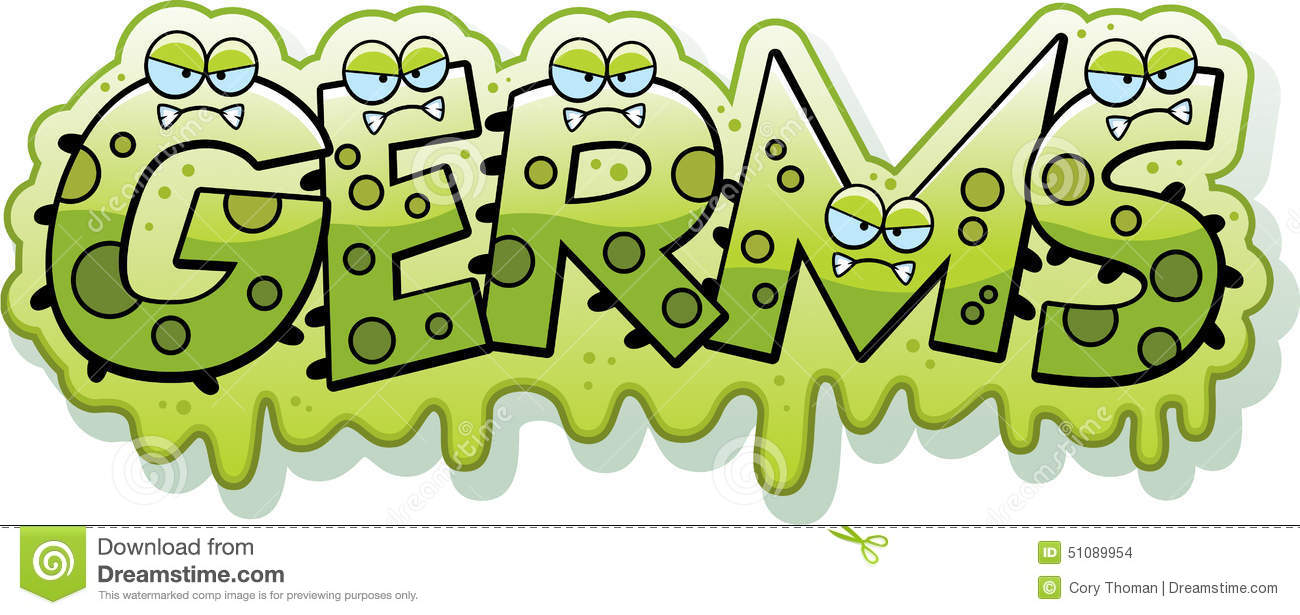 Cartoon Slimy Germs Text Stock Vector - Image: 51089954