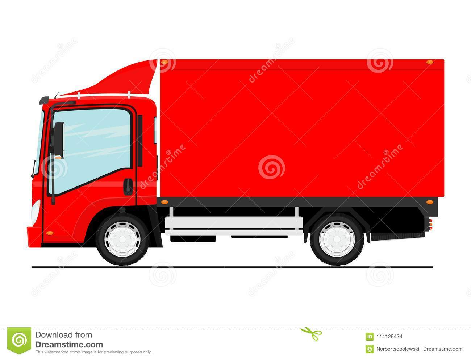 Cartoon small truck.