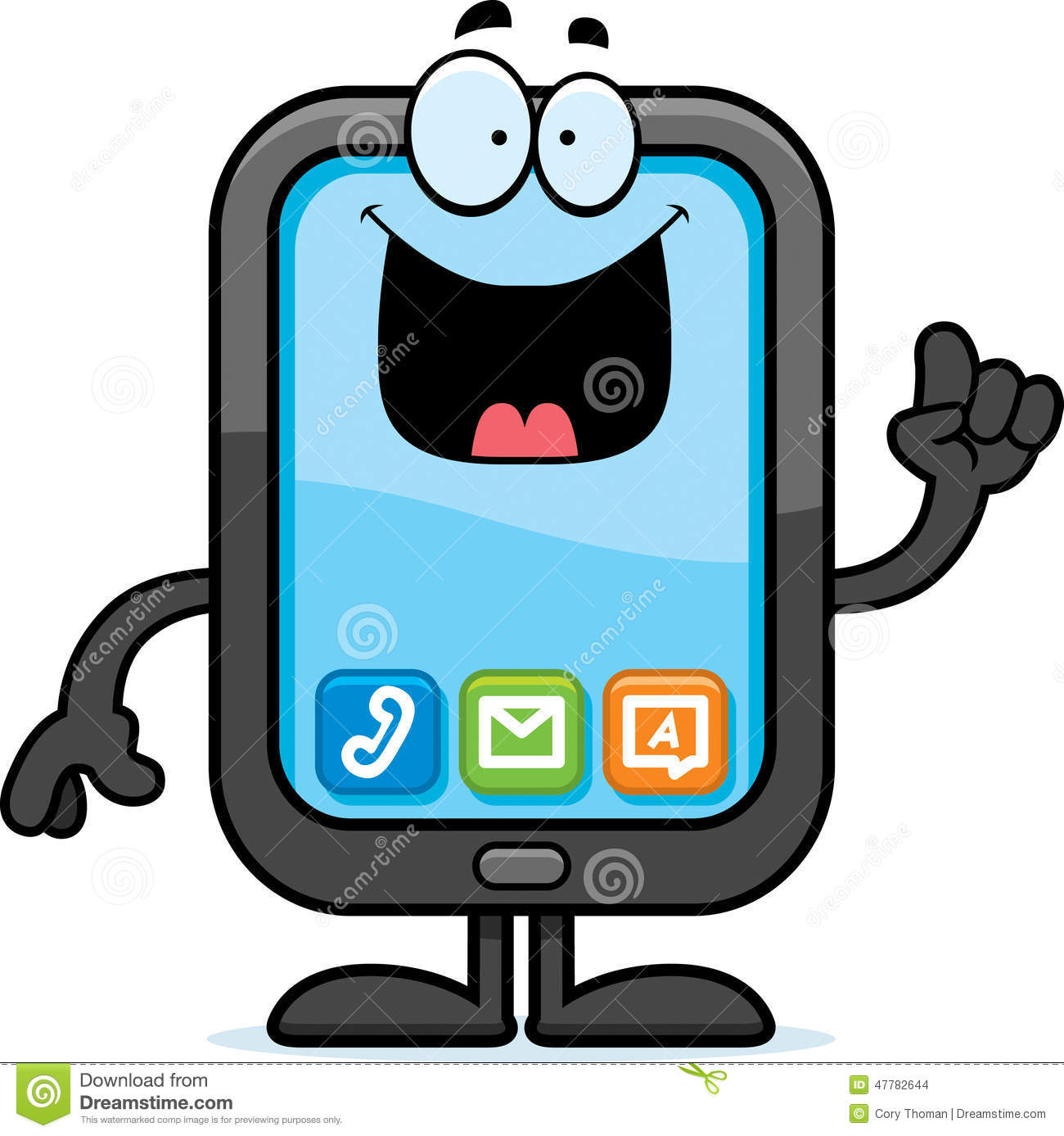 Cartoon Smartphone Idea stock vector. Illustration of ...
