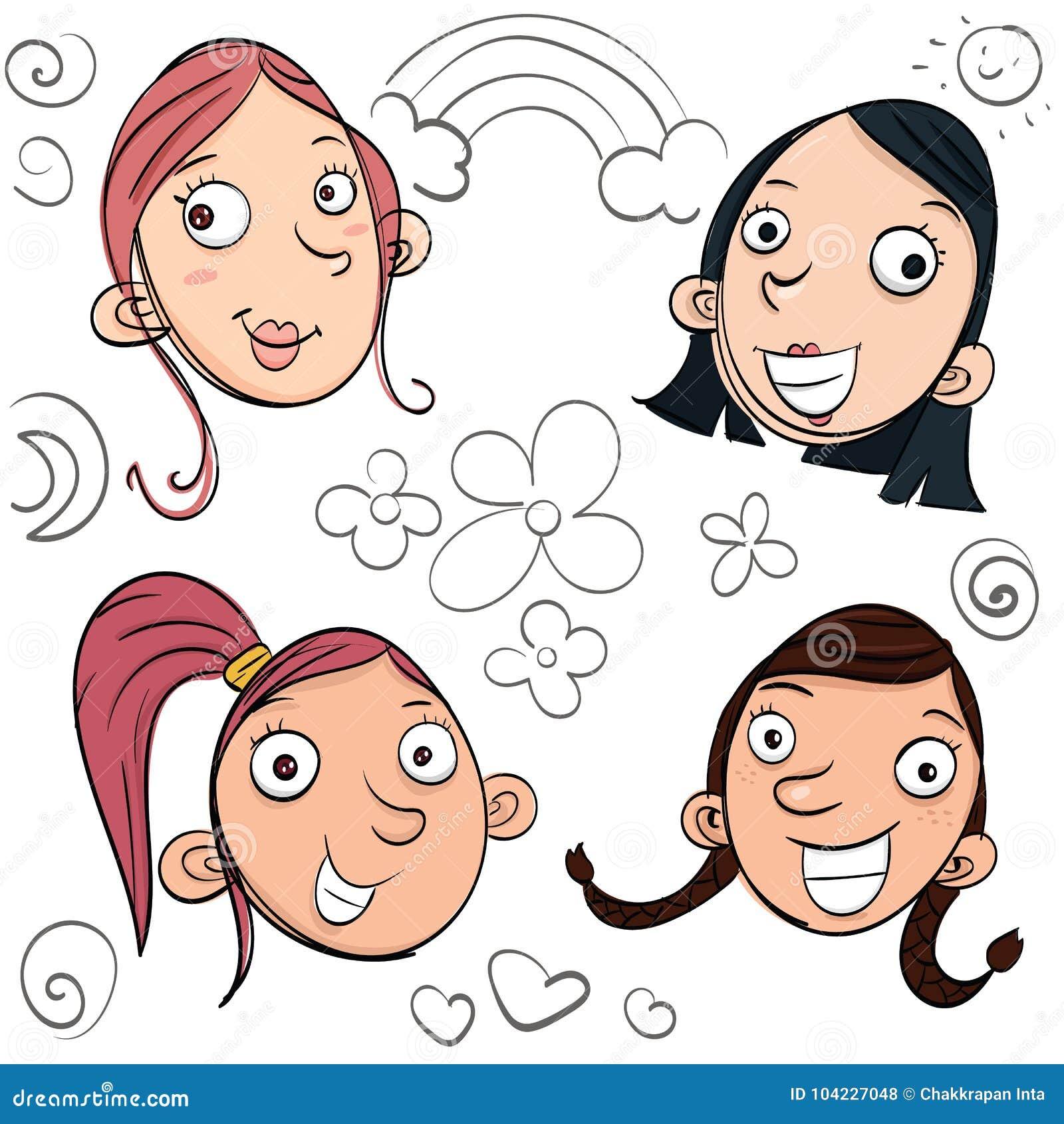 cartoon smile girls stock vector illustration of cartoon 104227048