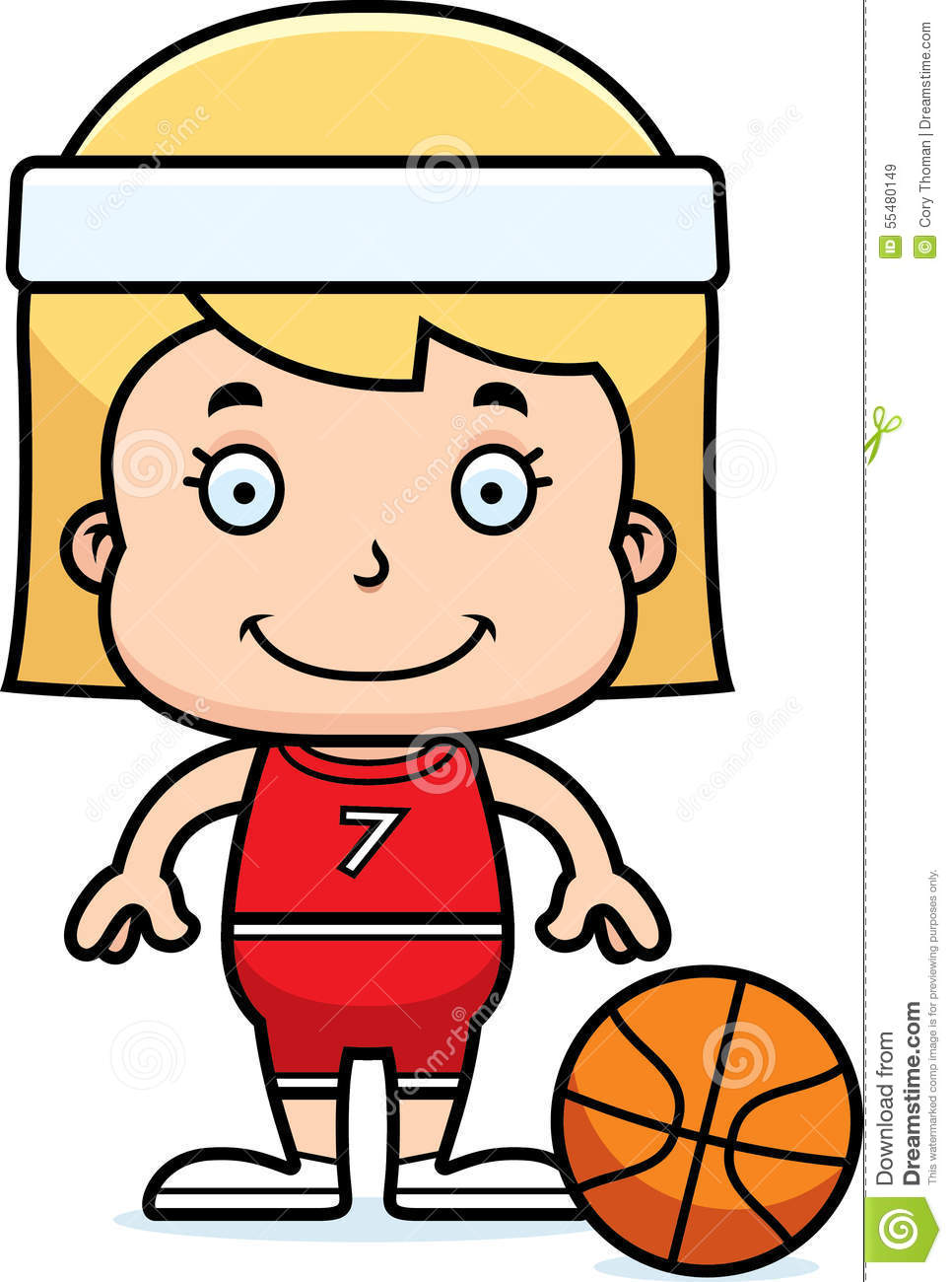 Basketball cartoon girl