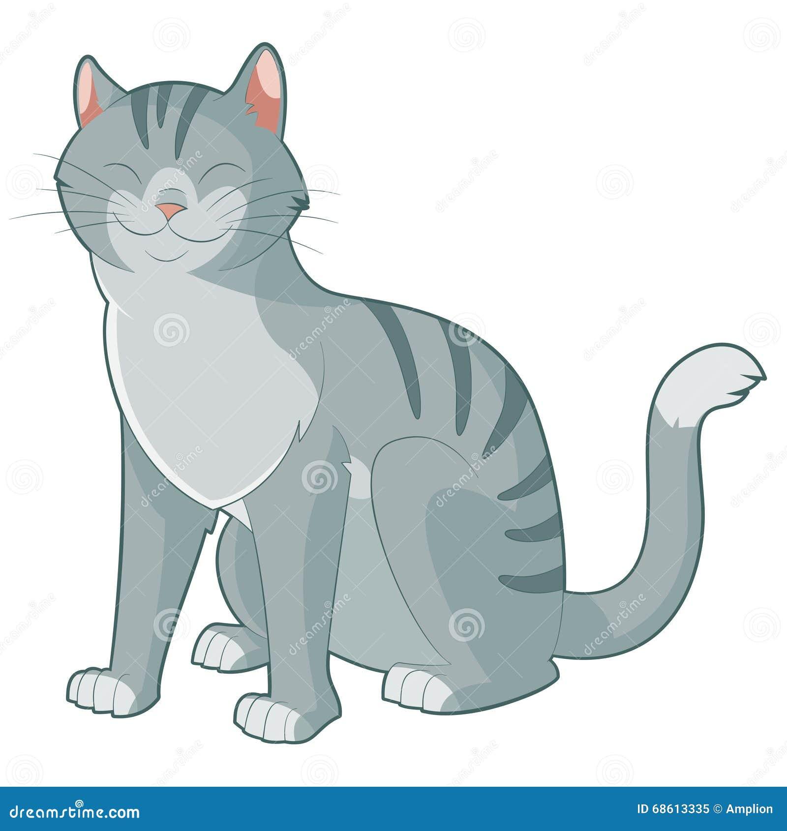 Cartoon Smiling Cat Stock Vector - Image: 68613335