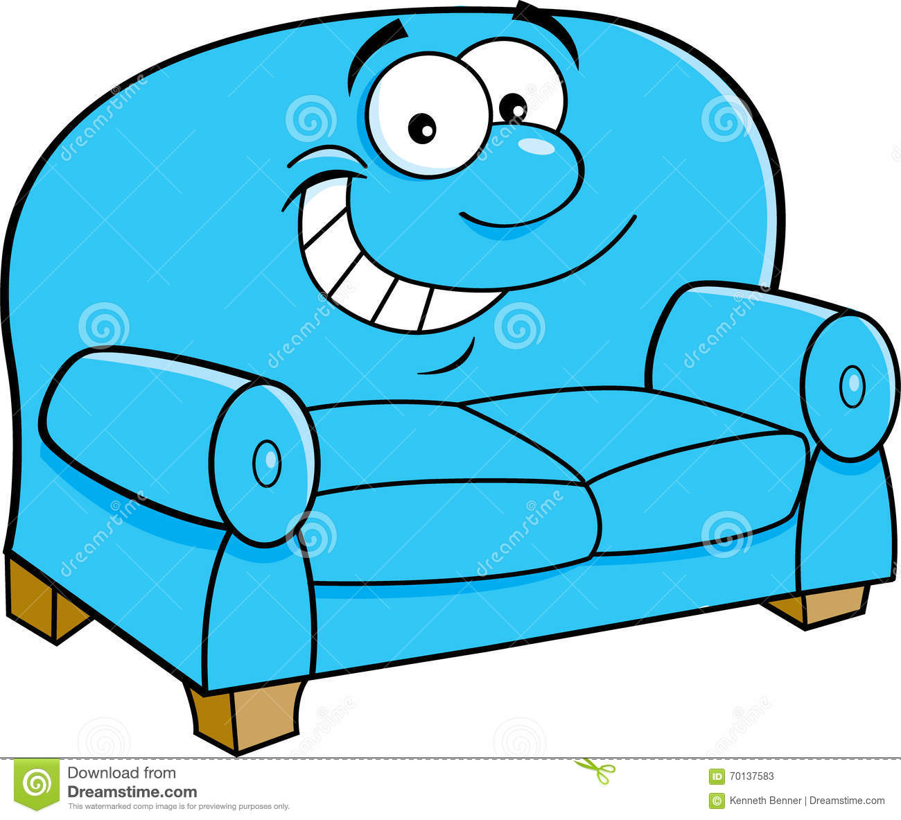 Cartoon smiling couch stock vector image 70137583 for Funny sofa pictures