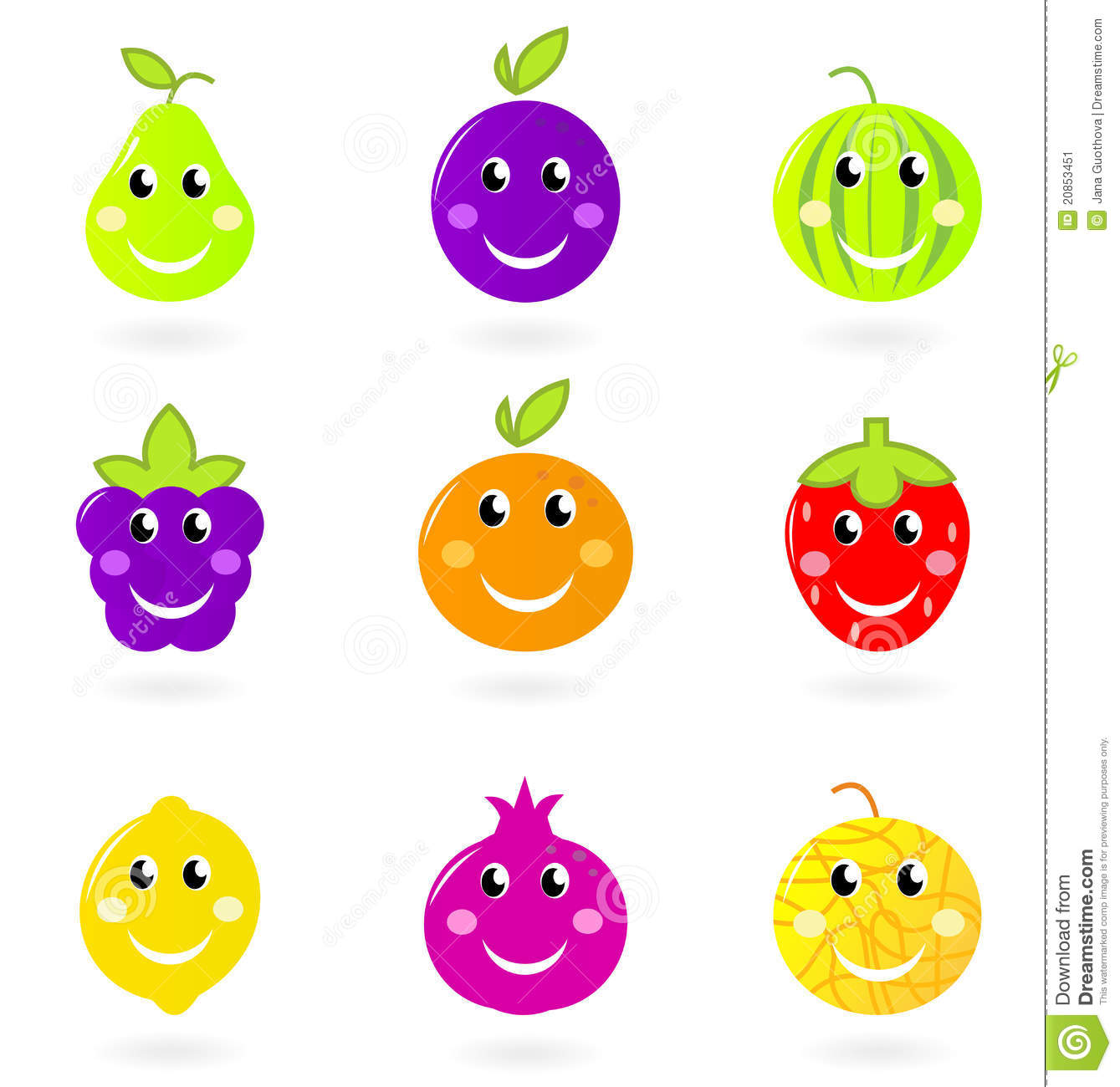 cartoon fruit characters royalty free stock images image 9030579