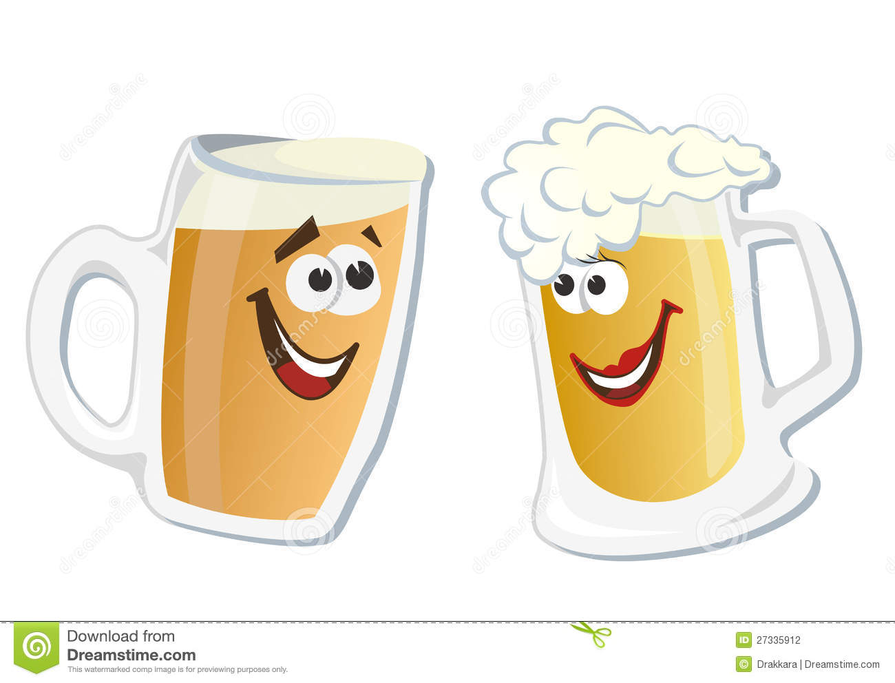 Cartoon Smiling Hero Glass Of Beer Stock Photography - Image: 27335912