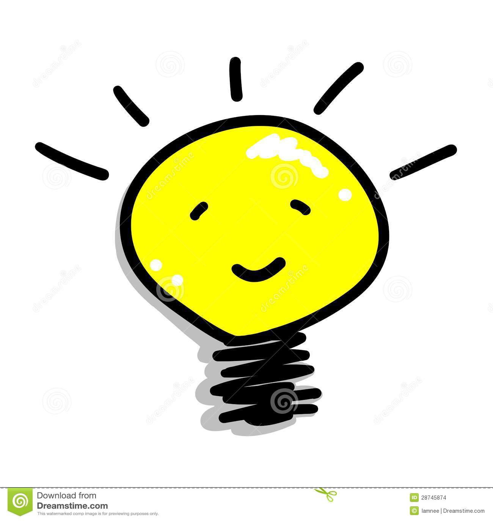 Cartoon Of A Smiling Light Bulb Icon Stock Vector - Illustration of ... for Bright Idea Light Bulb Png  83fiz