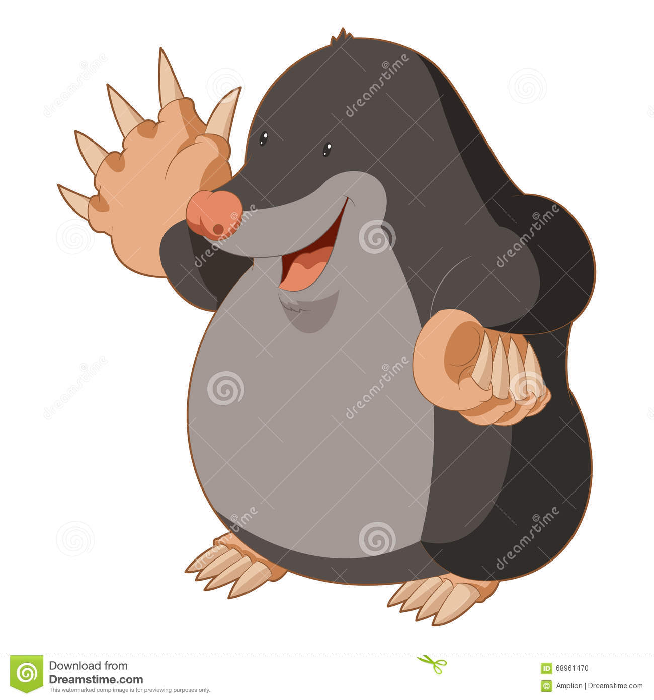 cartoon mole stock illustrations 626 cartoon mole stock rh dreamstime com Cartoon Mole in Hole Funny Mole Cartoons